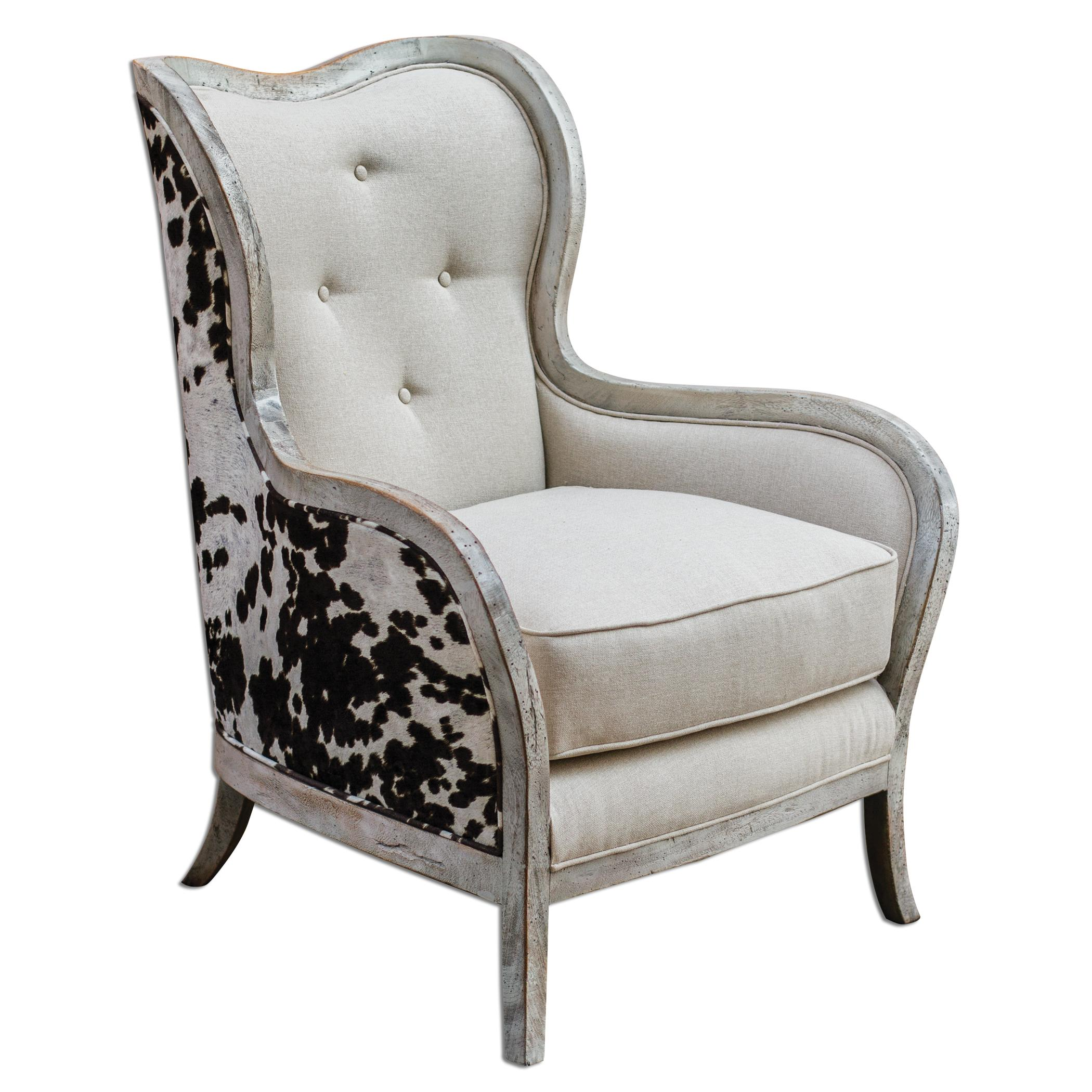 Accent Furniture - Accent Chairs Chalina High Back Arm Chair by Uttermost at Furniture Superstore - Rochester, MN