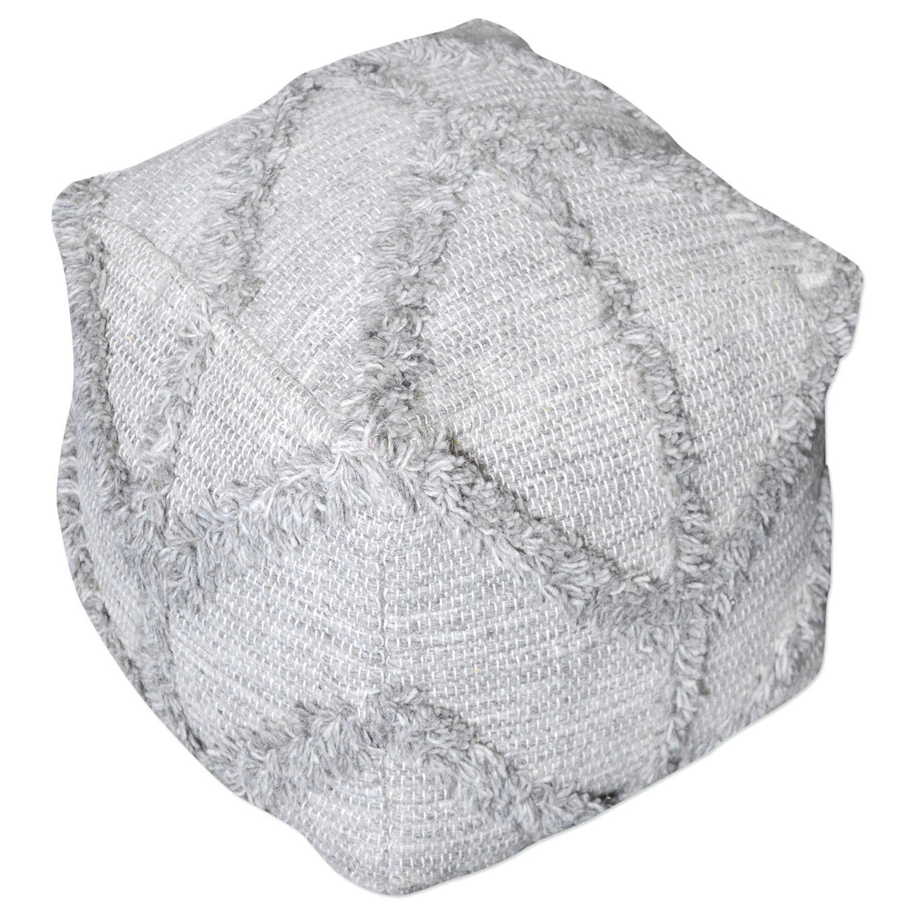 Accent Furniture - Ottomans Olfen Gray Pouf by Uttermost at O'Dunk & O'Bright Furniture