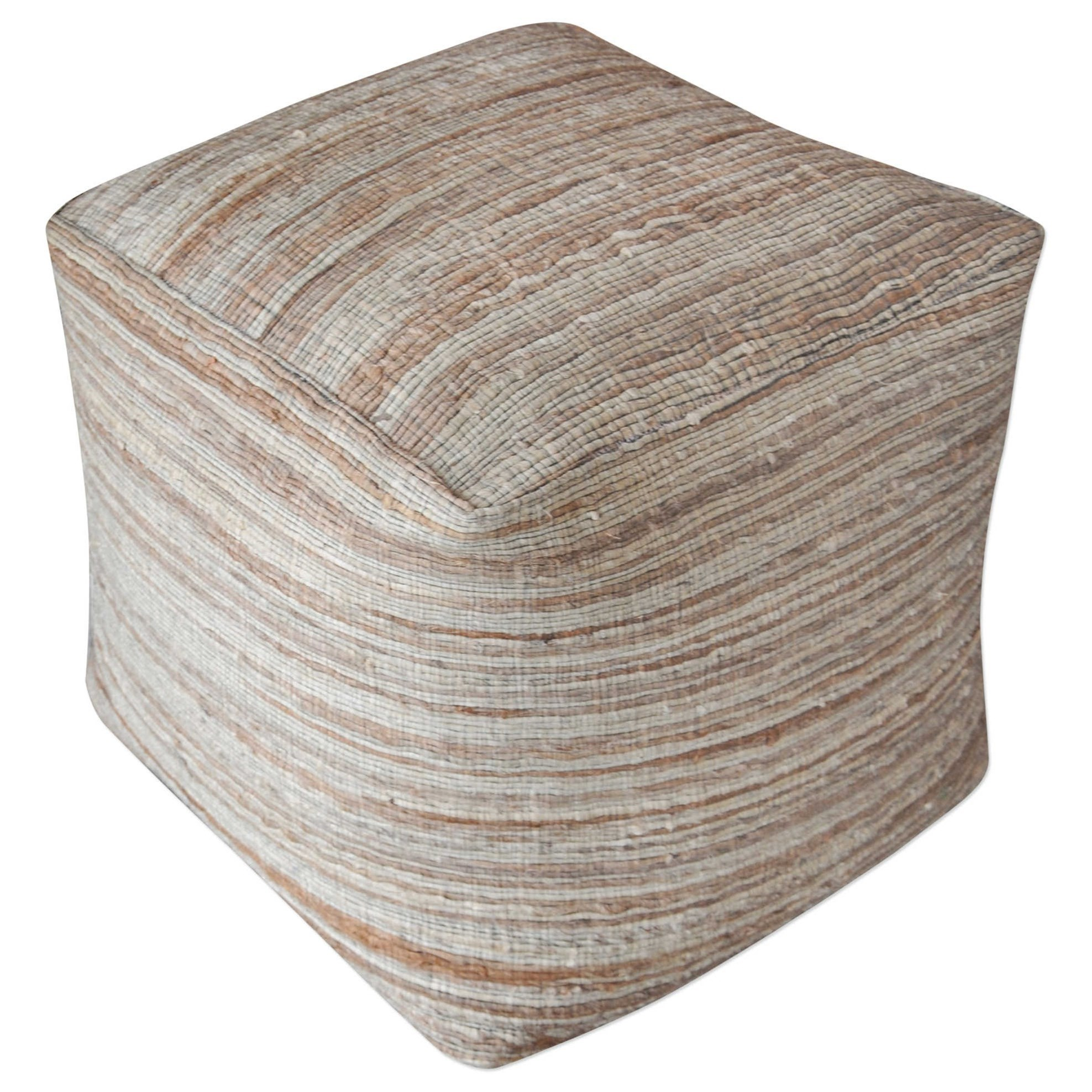 Accent Furniture - Ottomans Shiro Beige Pouf by Uttermost at Upper Room Home Furnishings