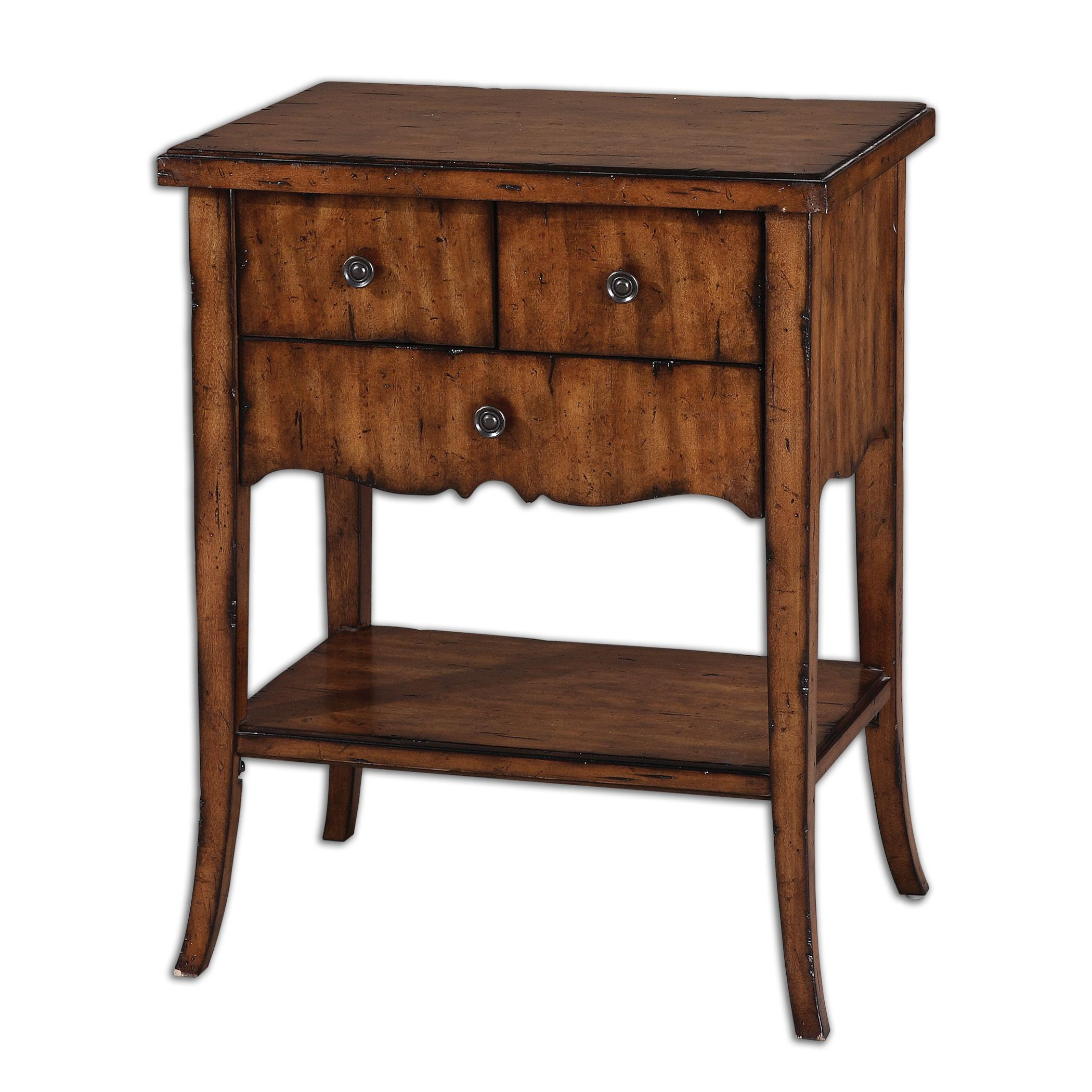 Accent Furniture - Occasional Tables Carmel End Table by Uttermost at Factory Direct Furniture