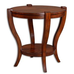 Bergman Round Mission Style End Table