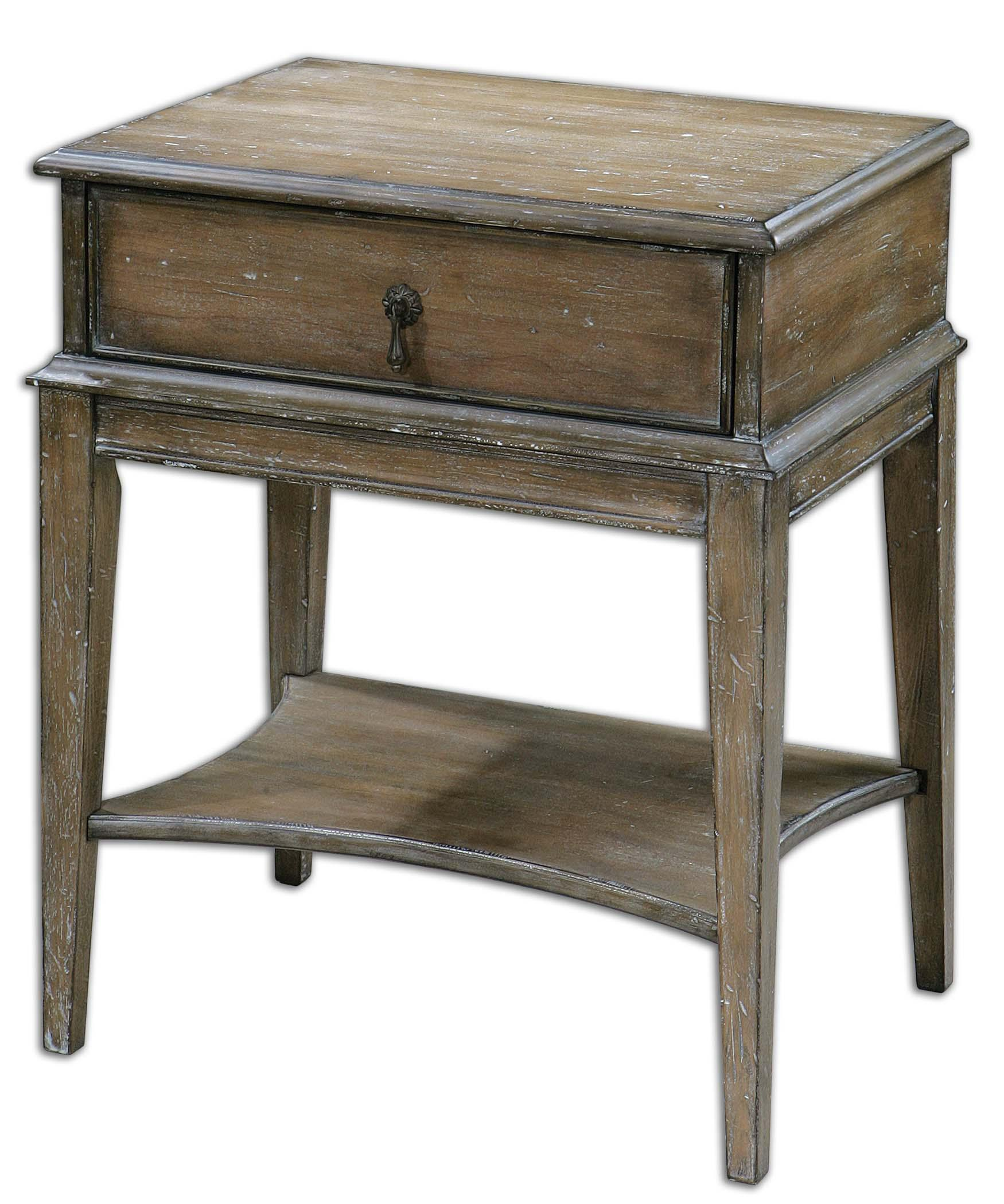 Accent Furniture - Occasional Tables Hanford Weathered Accent Table by Uttermost at Goffena Furniture & Mattress Center