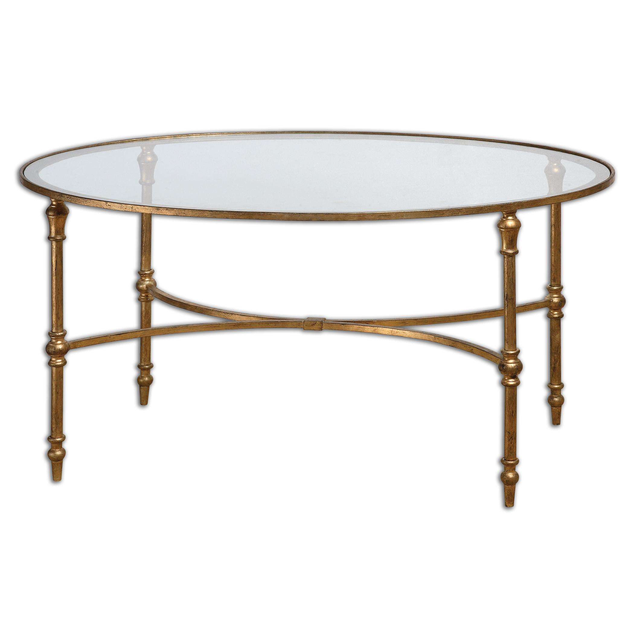 Accent Furniture - Occasional Tables Vitya Glass Coffee Table by Uttermost at Upper Room Home Furnishings