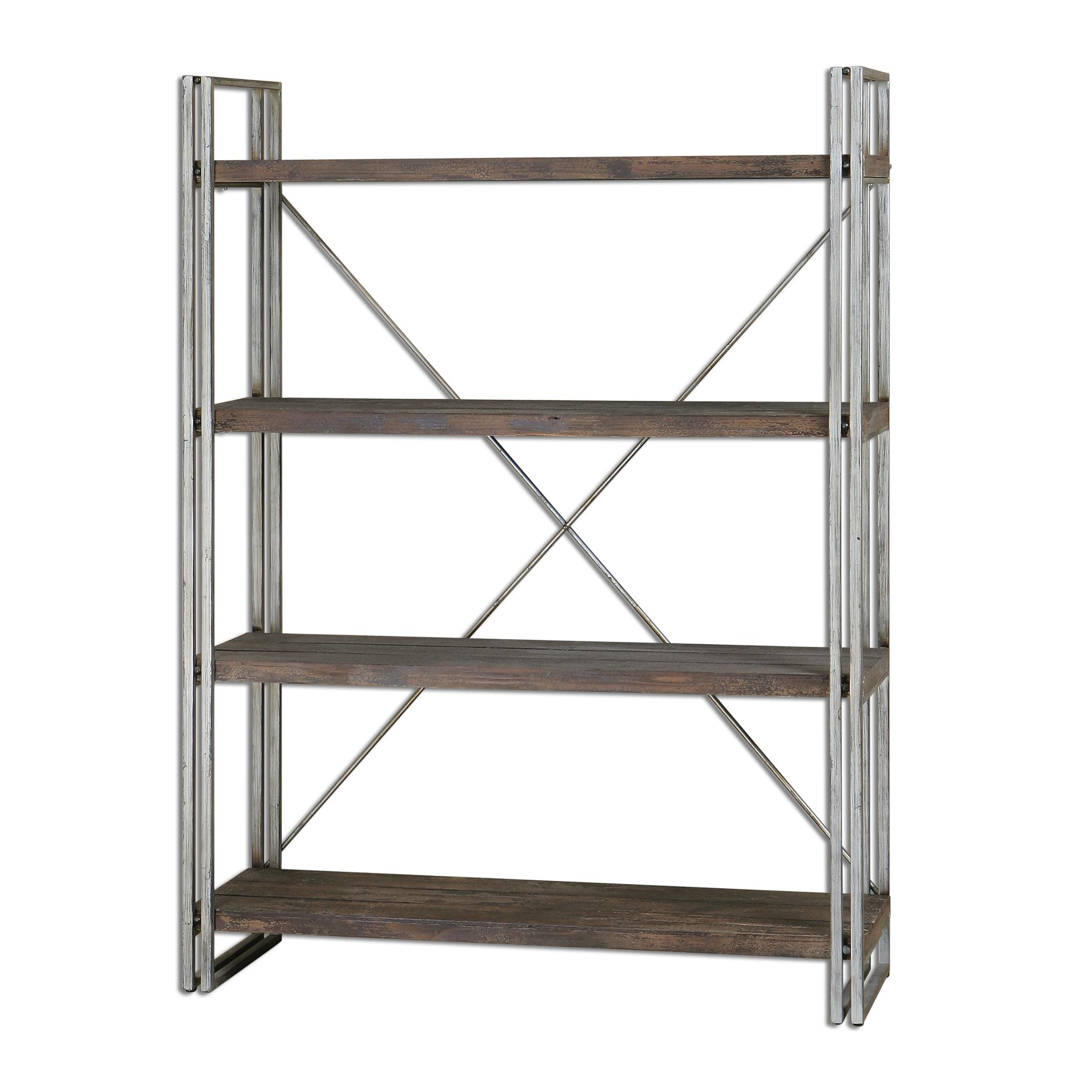 Accent Furniture - Bookcases Greeley Metal Etagere by Uttermost at Goffena Furniture & Mattress Center