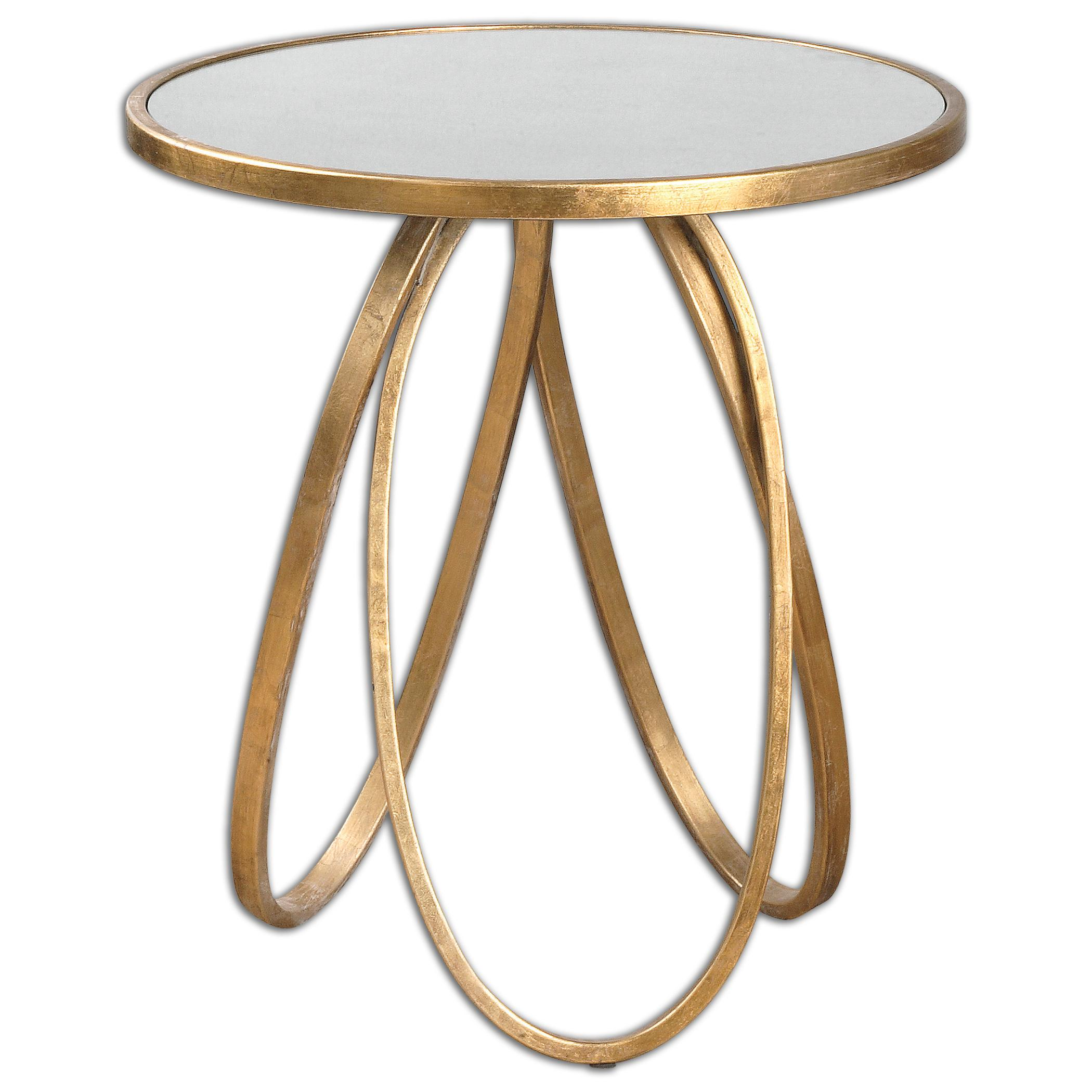 Accent Furniture - Occasional Tables Montrez Gold Accent Table by Uttermost at Upper Room Home Furnishings