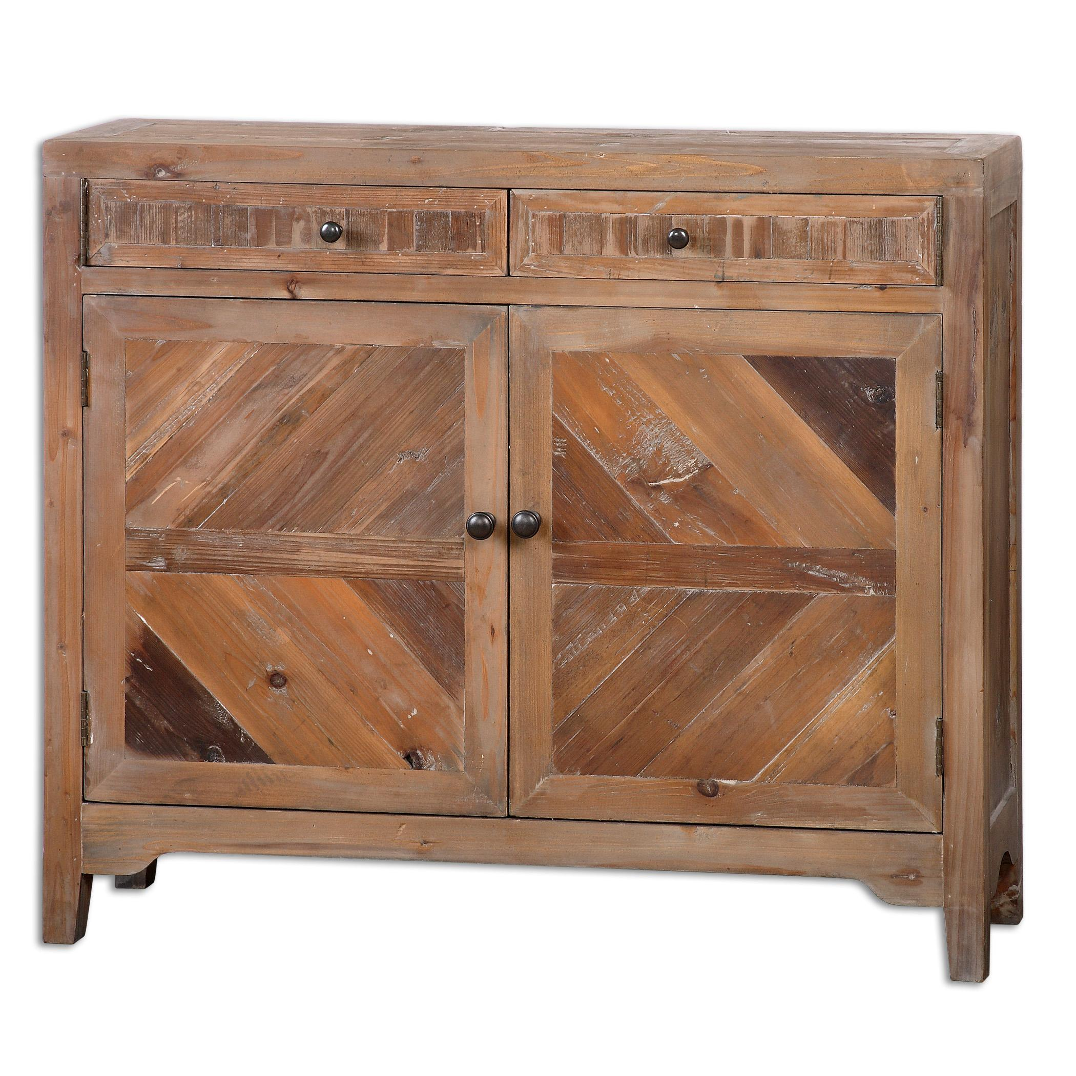 Accent Furniture - Chests Hesperos Reclaimed Wood Console Cabinet by Uttermost at Mueller Furniture