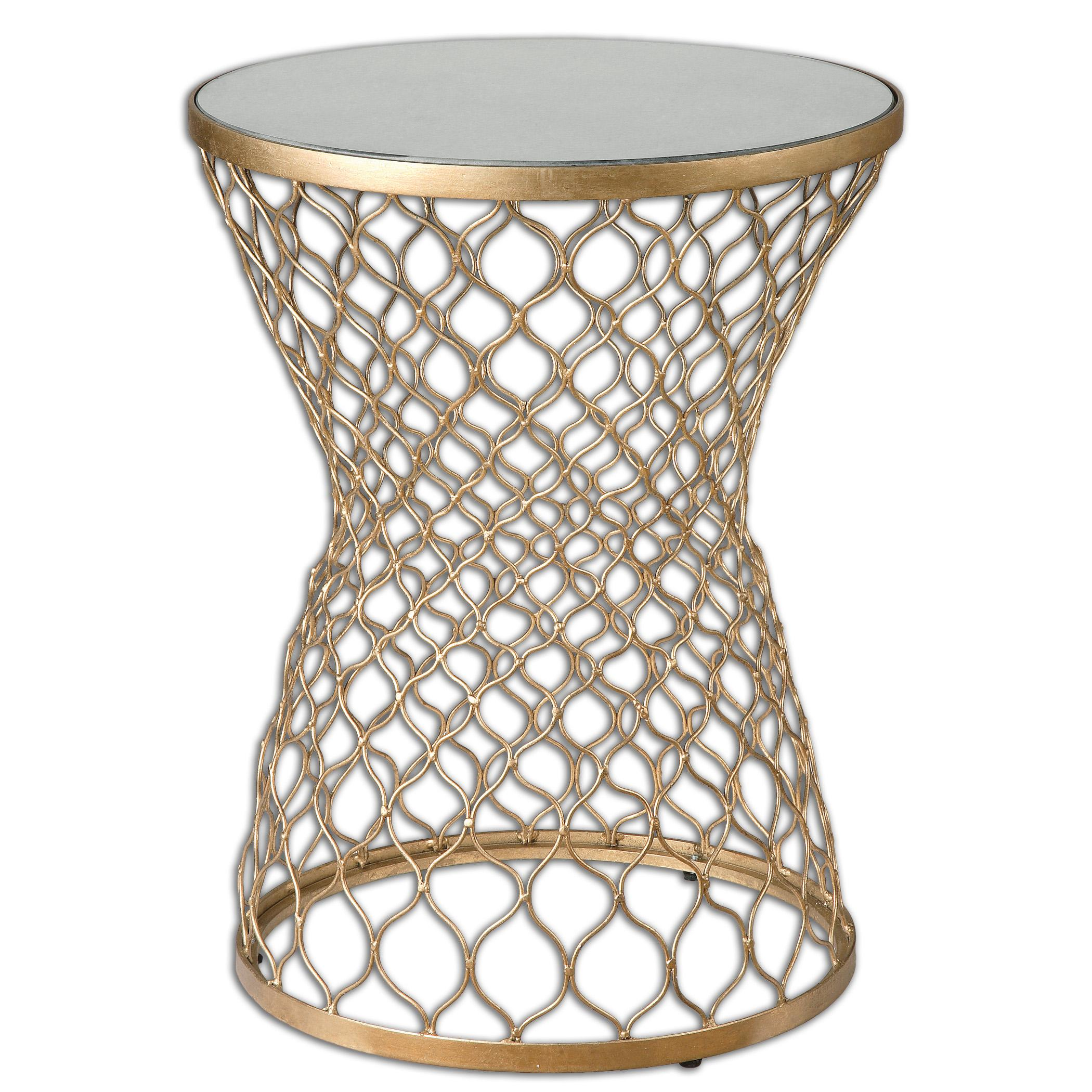 Accent Furniture - Occasional Tables Naeva Gold End Table by Uttermost at Del Sol Furniture