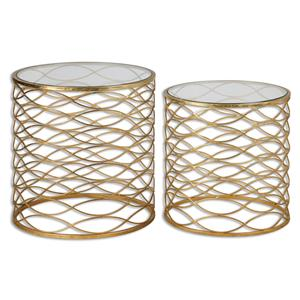 Uttermost Accent Furniture Zoa Gold Accent Tables Set/2