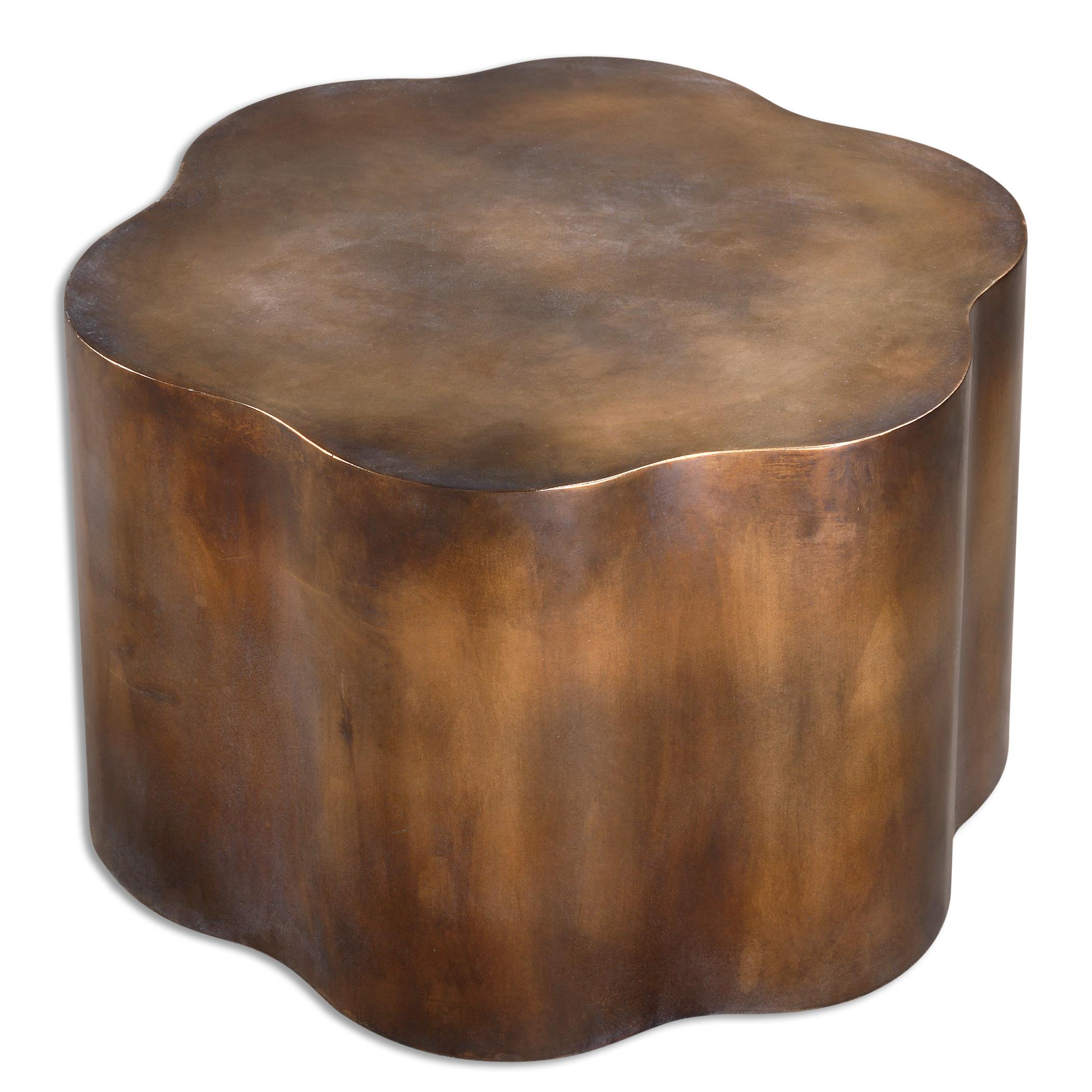 Accent Furniture - Occasional Tables Sameya Oxidized Copper Accent Table by Uttermost at Goffena Furniture & Mattress Center