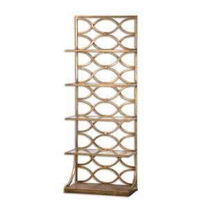 Uttermost Accent Furniture Lashaya Gold Etagere
