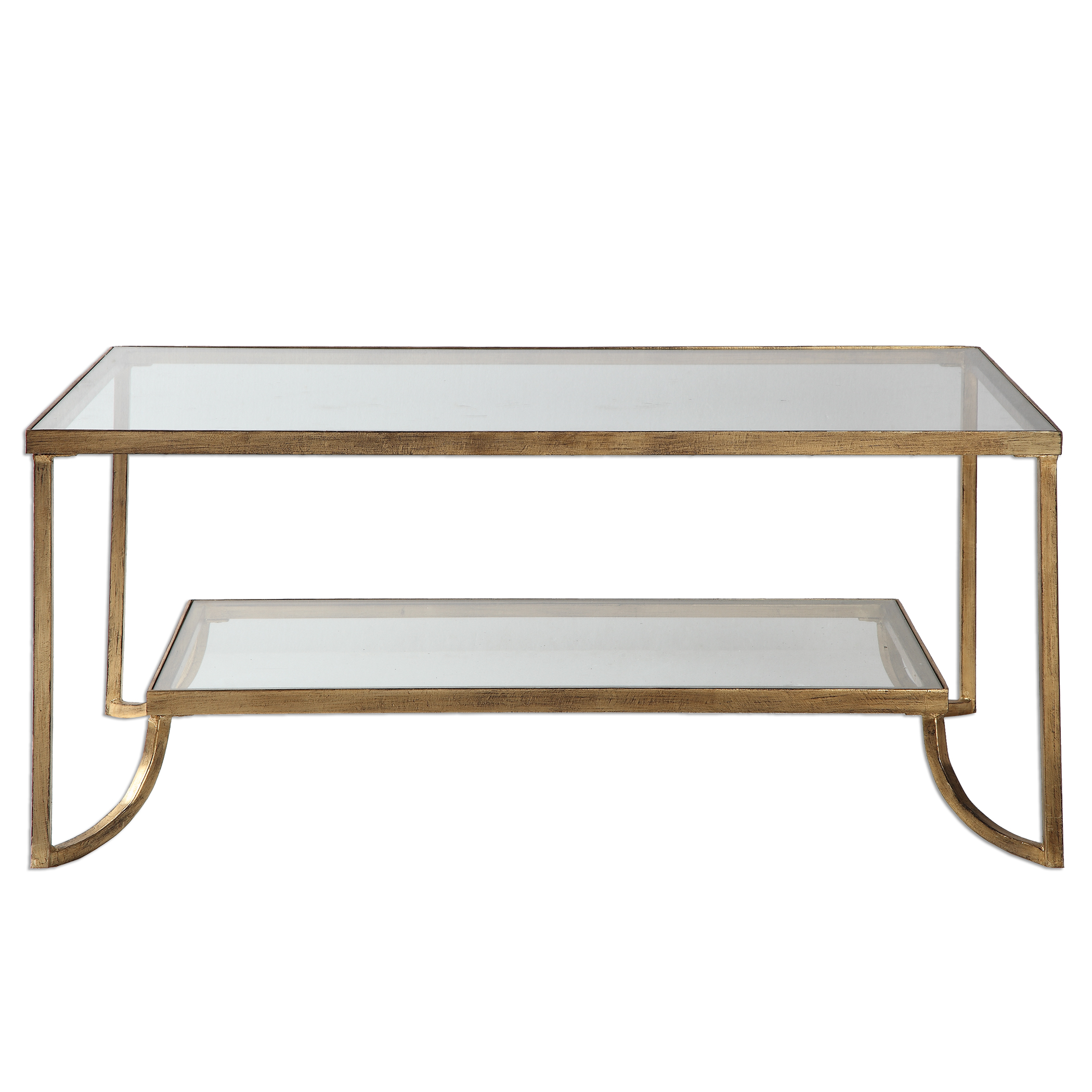 Accent Furniture - Occasional Tables Katina Gold Leaf Coffee Table by Uttermost at Upper Room Home Furnishings