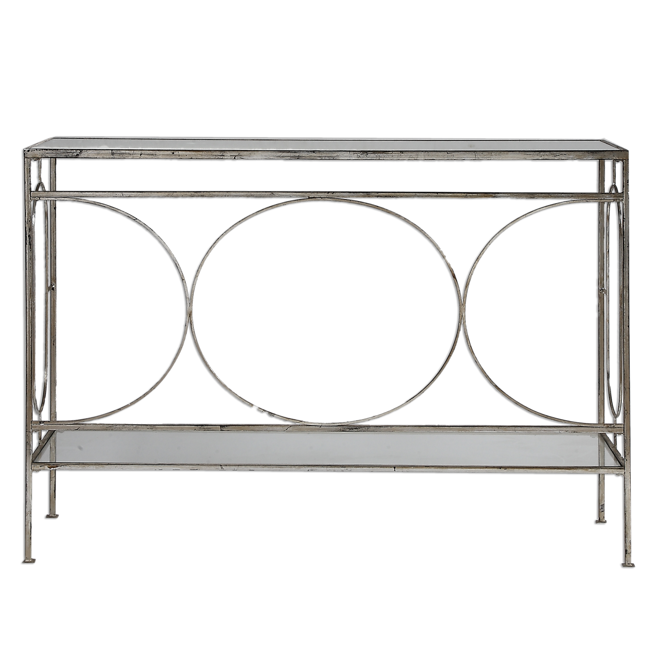 Accent Furniture - Occasional Tables Luano Silver Console Table by Uttermost at O'Dunk & O'Bright Furniture