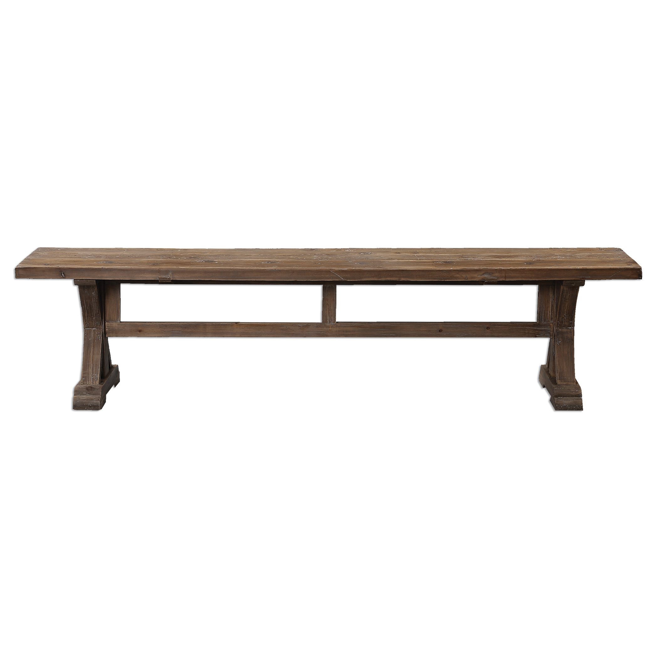 Accent Furniture - Benches Stratford Salvaged Wood Bench by Uttermost at O'Dunk & O'Bright Furniture
