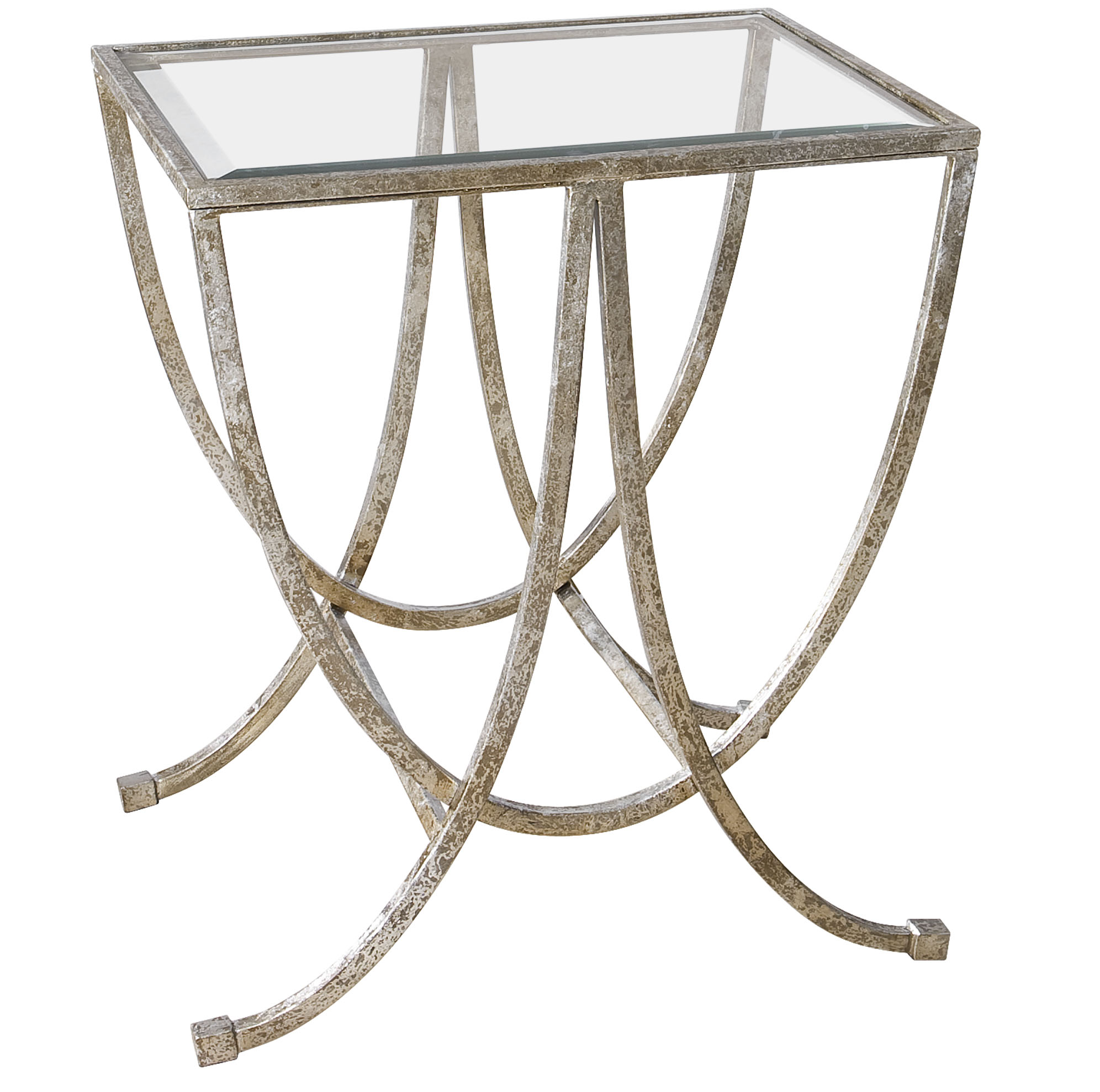 Accent Furniture - Occasional Tables Marta Antiqued Silver Side Table by Uttermost at Upper Room Home Furnishings
