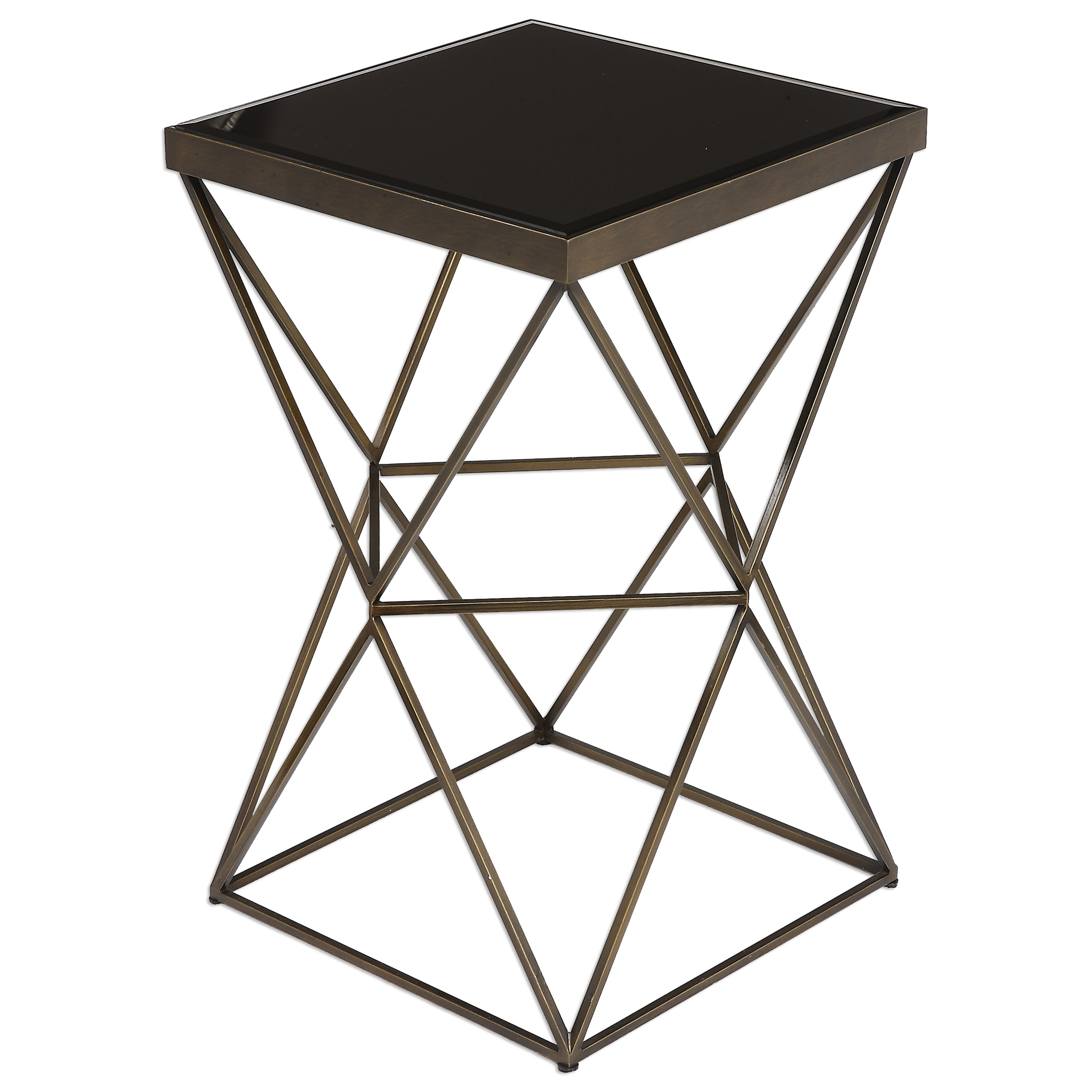 Accent Furniture - Occasional Tables Uberto Caged Frame Accent Table by Uttermost at Upper Room Home Furnishings