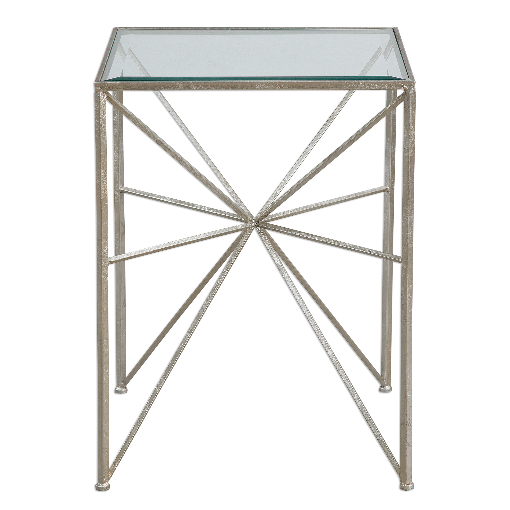 Accent Furniture - Occasional Tables Silvana Silver Side Table by Uttermost at Upper Room Home Furnishings