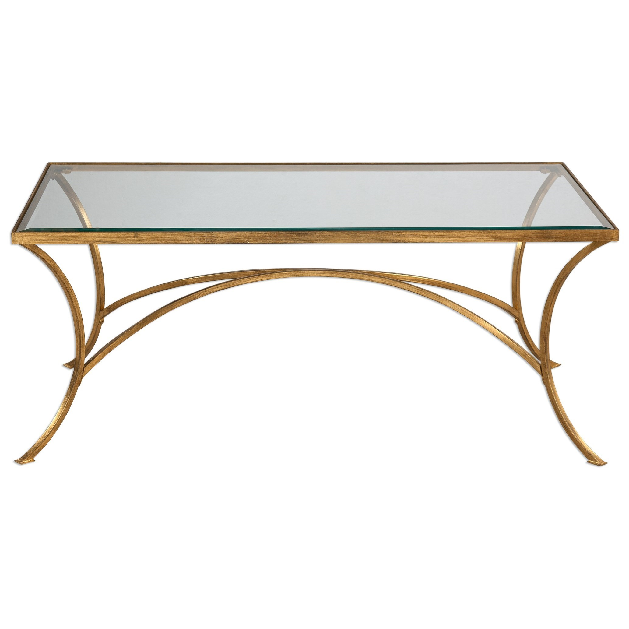 Accent Furniture - Occasional Tables Alayna Gold Coffee Table by Uttermost at Upper Room Home Furnishings