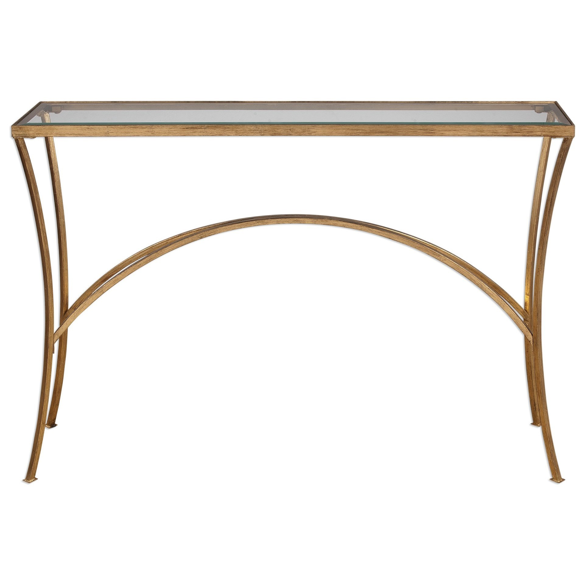 Accent Furniture - Occasional Tables Alayna Gold Console Table by Uttermost at Factory Direct Furniture
