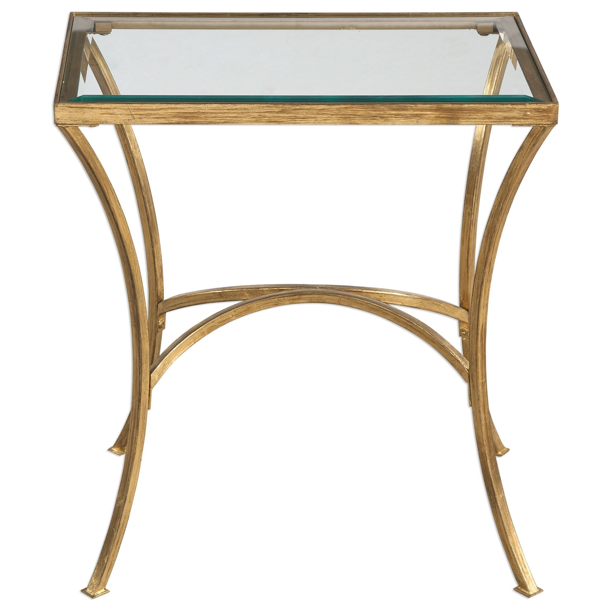 Accent Furniture - Occasional Tables Alayna Gold End Table by Uttermost at Upper Room Home Furnishings