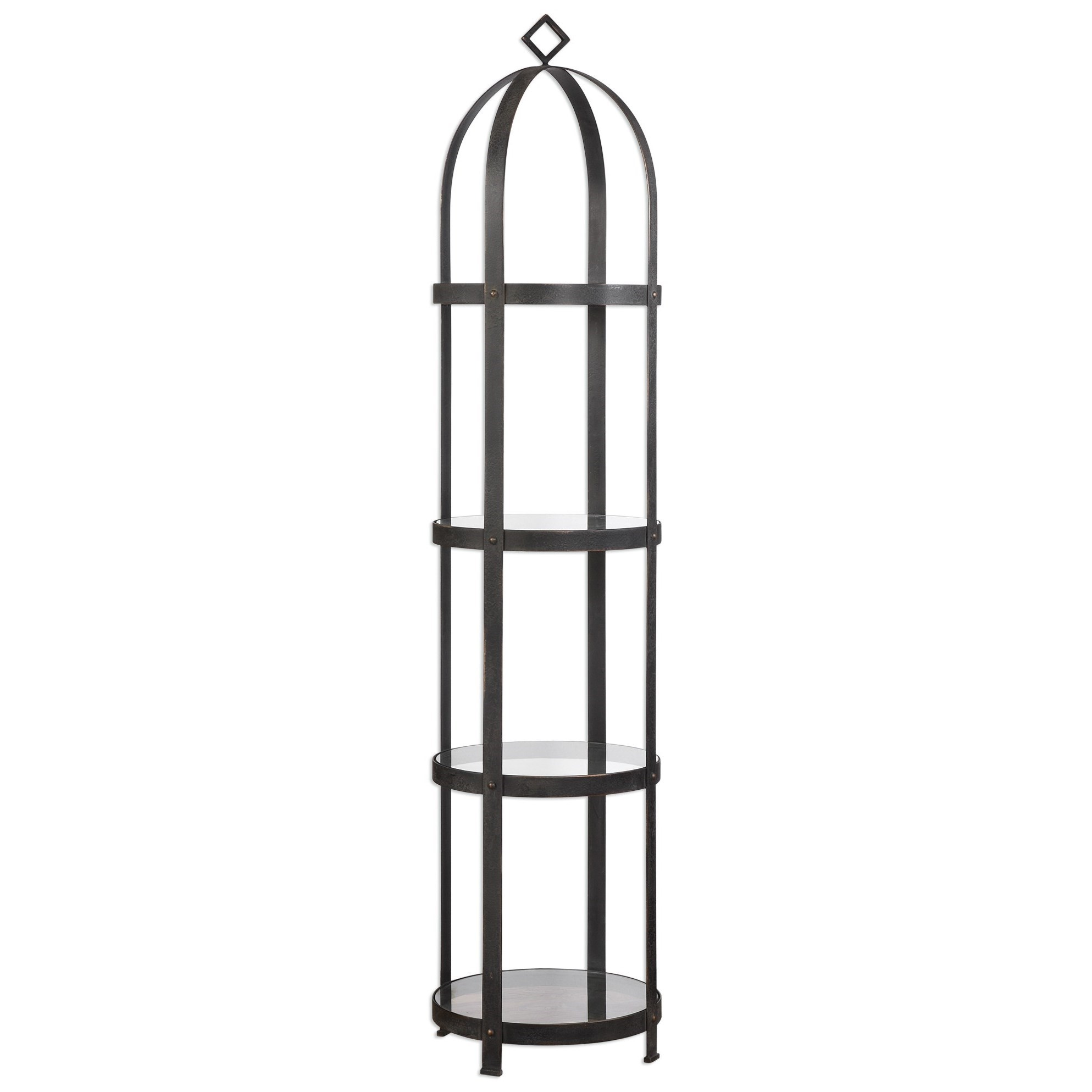 Accent Furniture - Bookcases Welch Etagere by Uttermost at Del Sol Furniture