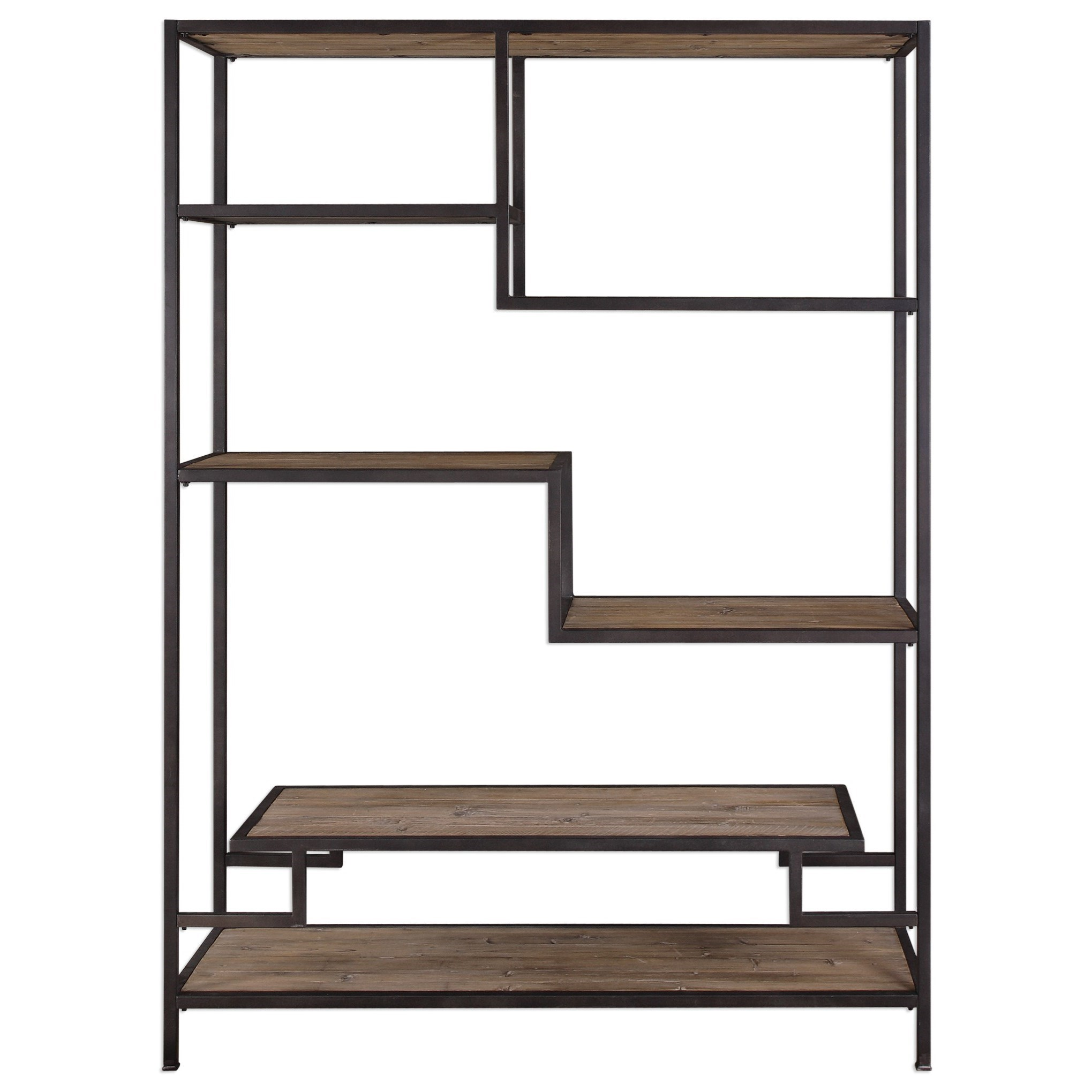 Accent Furniture - Bookcases  Sherwin Industrial Etagere by Uttermost at Goffena Furniture & Mattress Center
