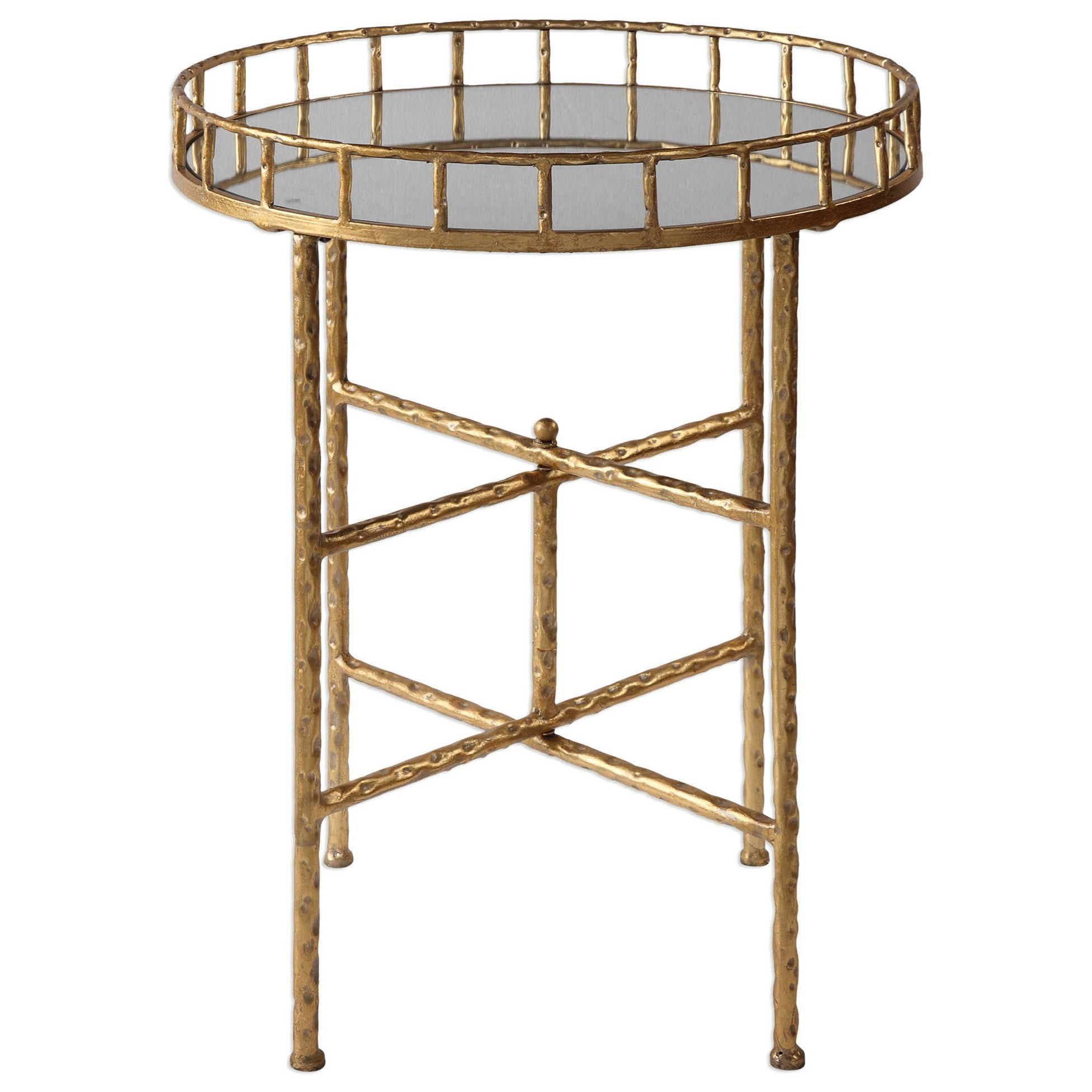 Accent Furniture - Occasional Tables Tilly Bright Gold Accent Table by Uttermost at Mueller Furniture