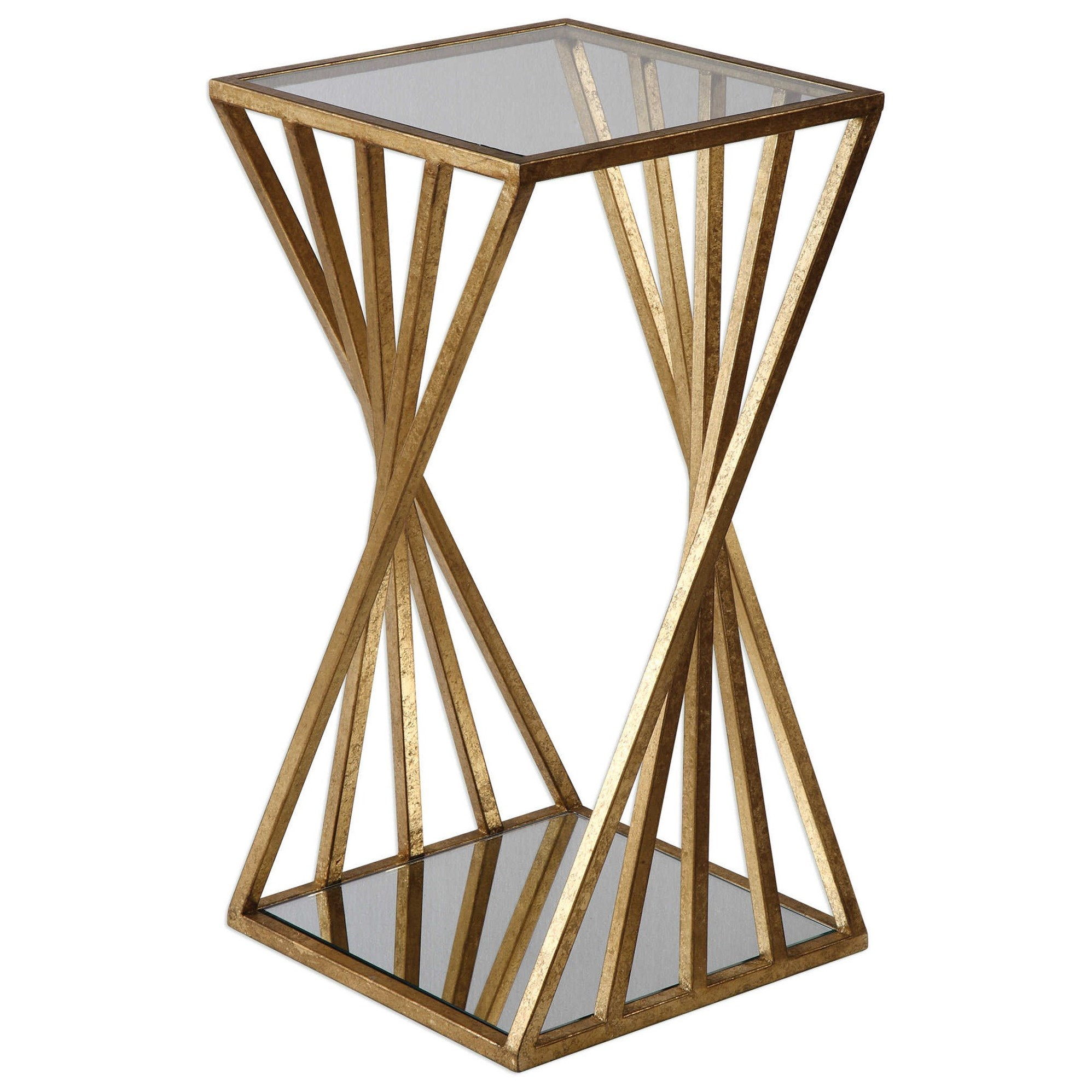 Accent Furniture - Occasional Tables Janina Gold Dimensional Accent Table by Uttermost at Mueller Furniture