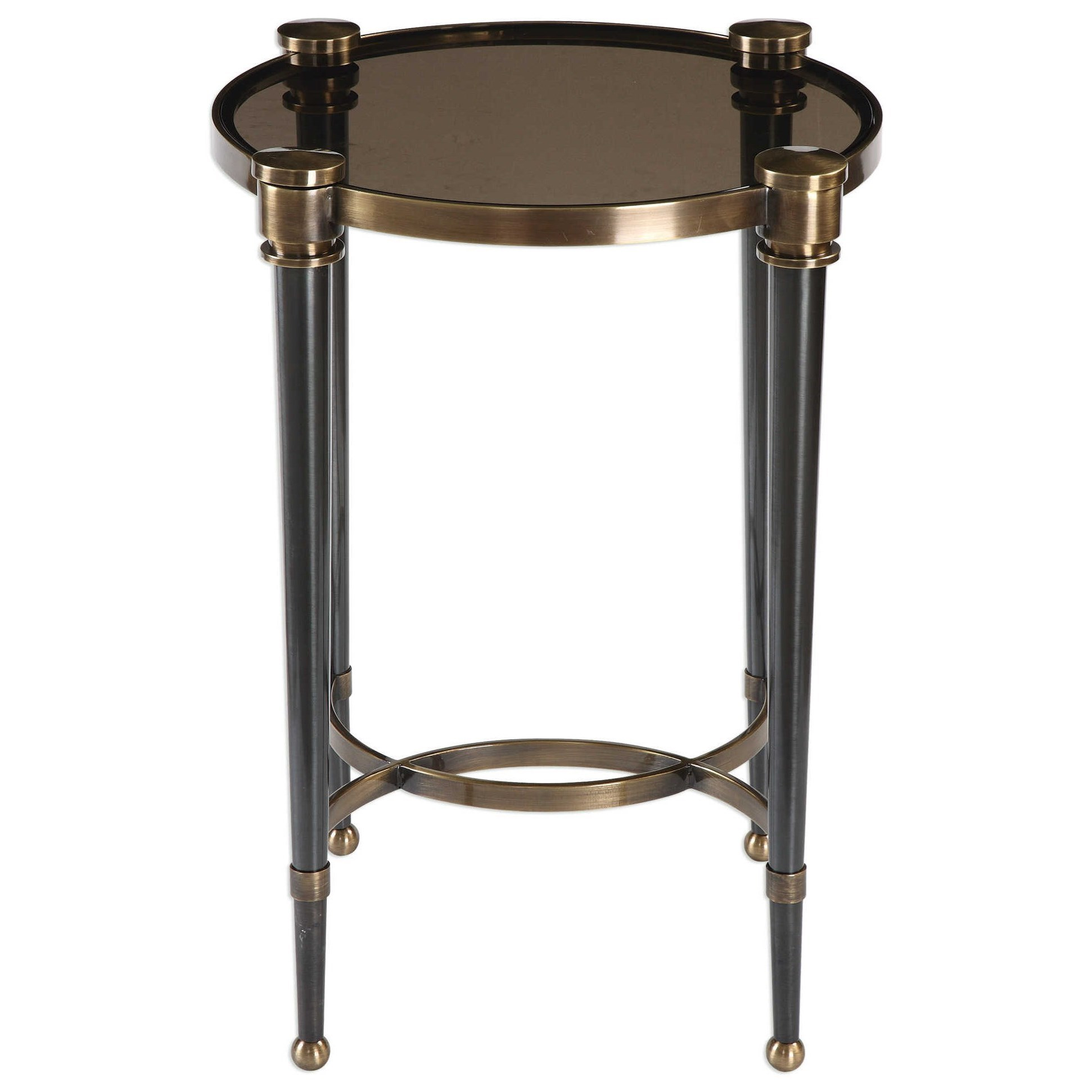 Accent Furniture - Occasional Tables Thora Brushed Black Accent Table by Uttermost at Upper Room Home Furnishings