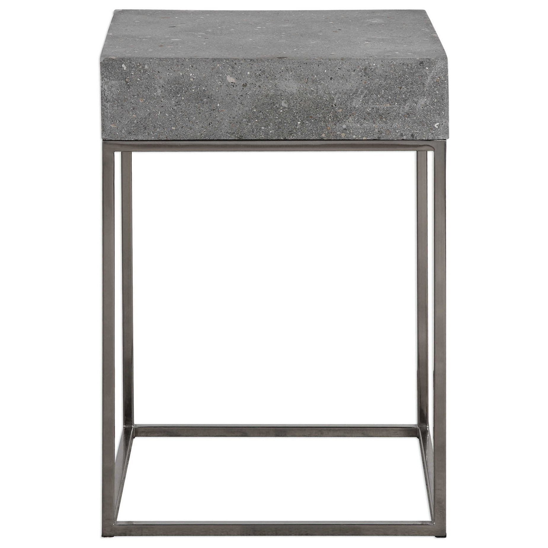 Accent Furniture - Occasional Tables Jude Concrete Accent Table at Bennett's Furniture and Mattresses