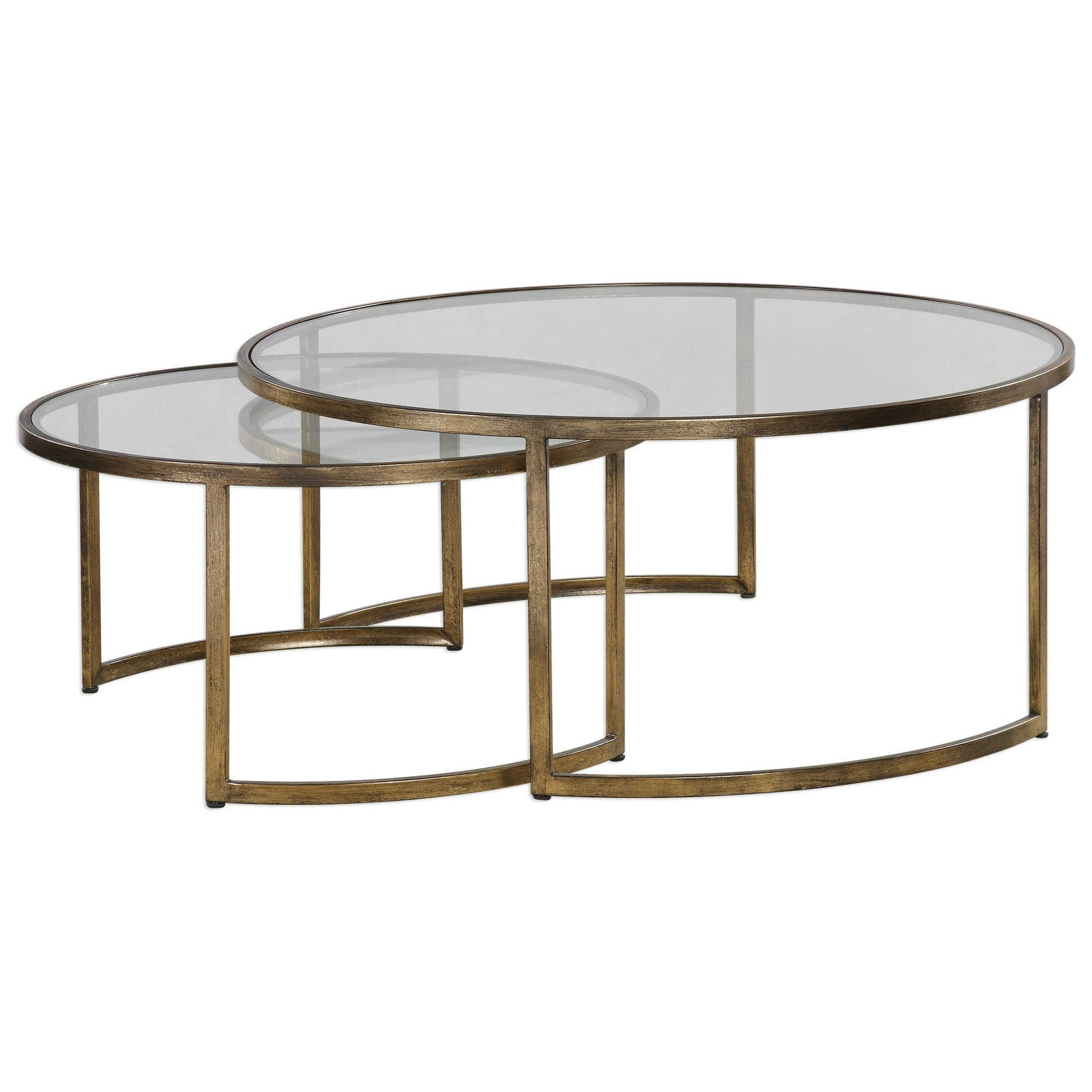 Accent Furniture - Occasional Tables Rhea Nested Coffee Tables Set of 2 by Uttermost at Upper Room Home Furnishings