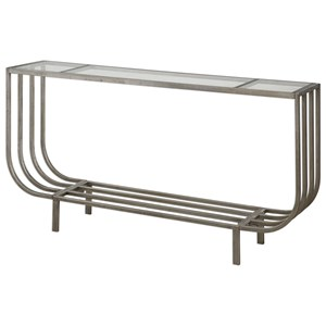 Arlice Bright Silver Console Table