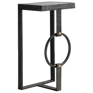 Hagen Burnished Steel Accent Table
