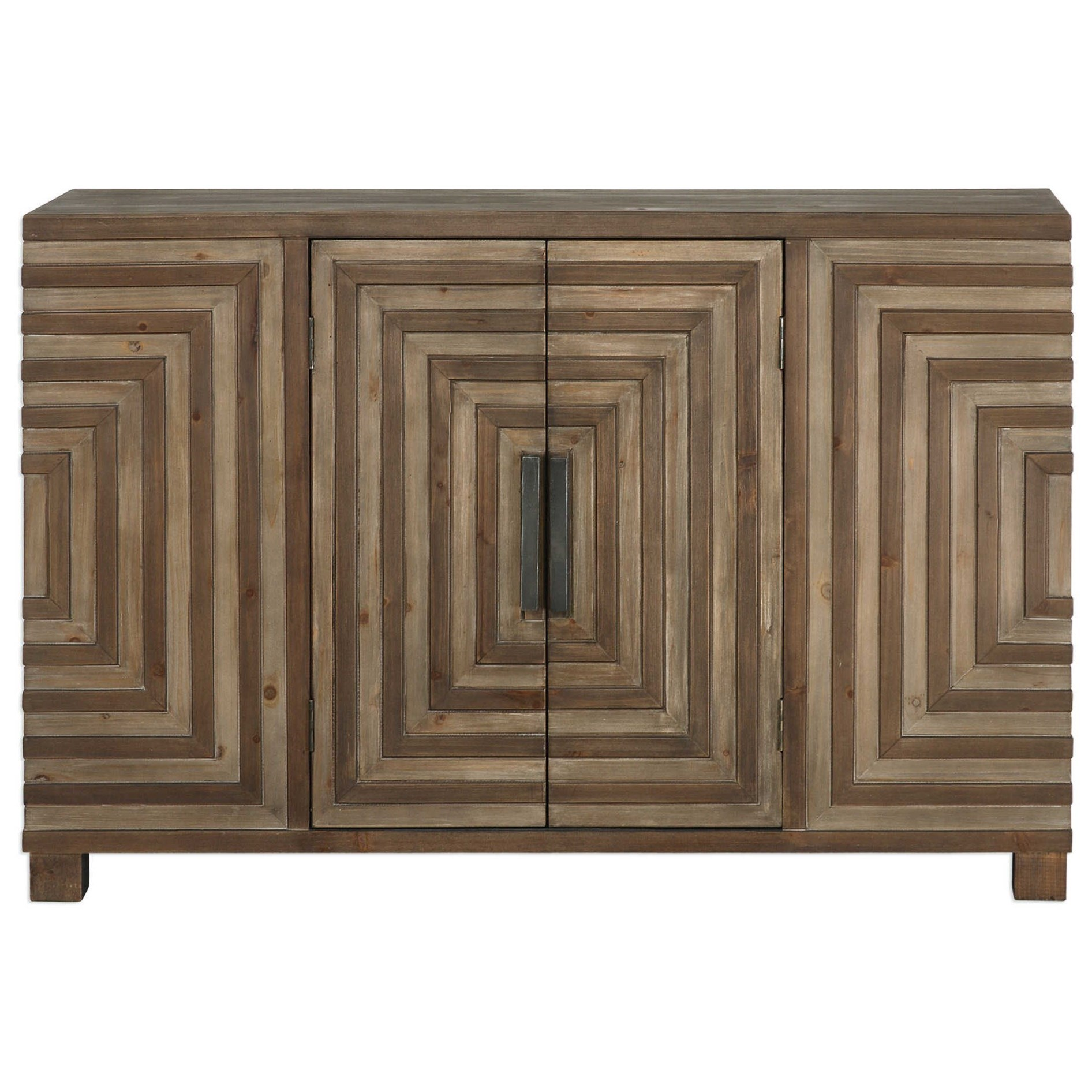 Accent Furniture - Occasional Tables Layton Geometric Console Cabinet by Uttermost at Suburban Furniture