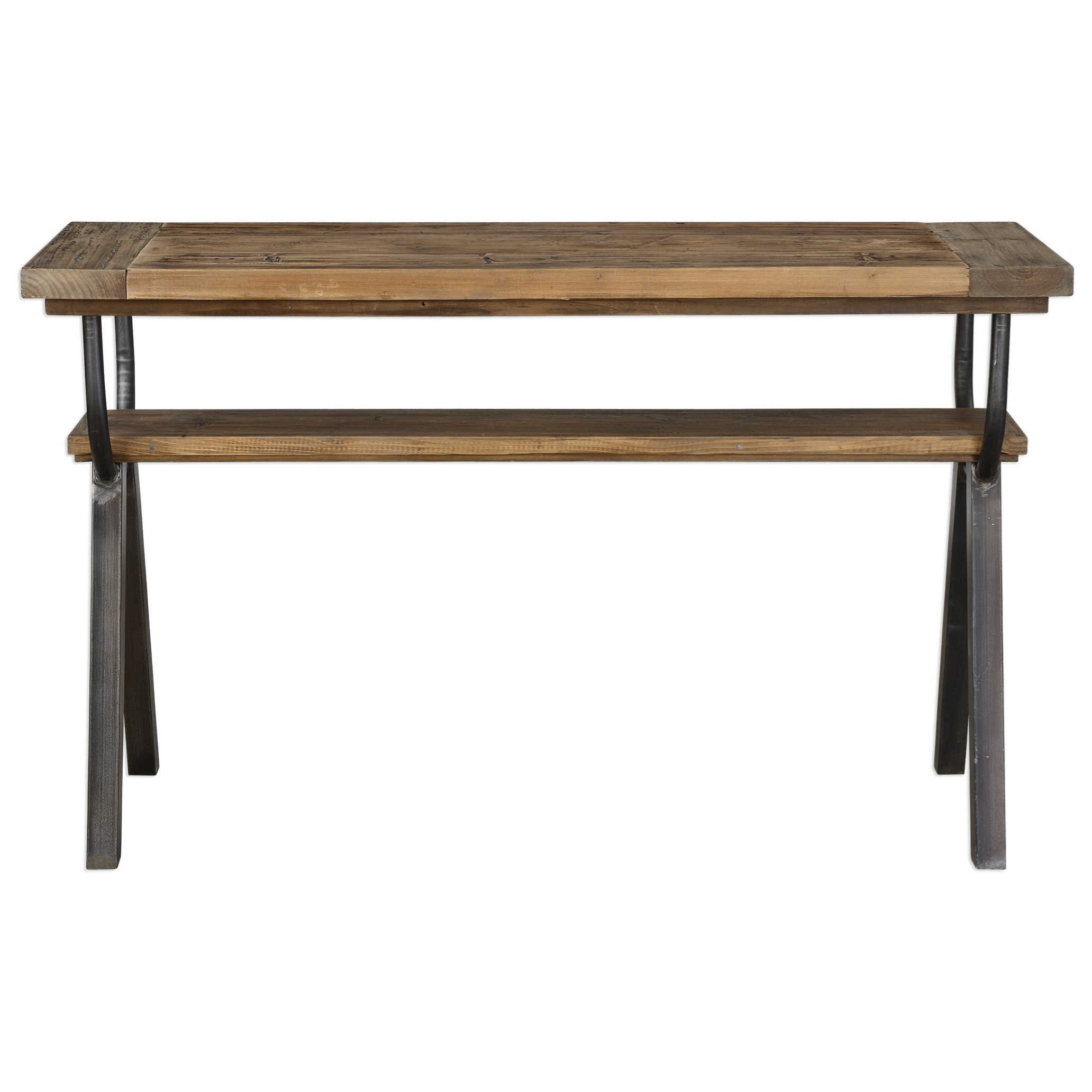 Accent Furniture - Occasional Tables Domini Industrial Console Table by Uttermost at Del Sol Furniture