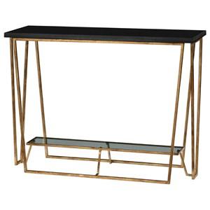 Agnes Black Granite Console Table