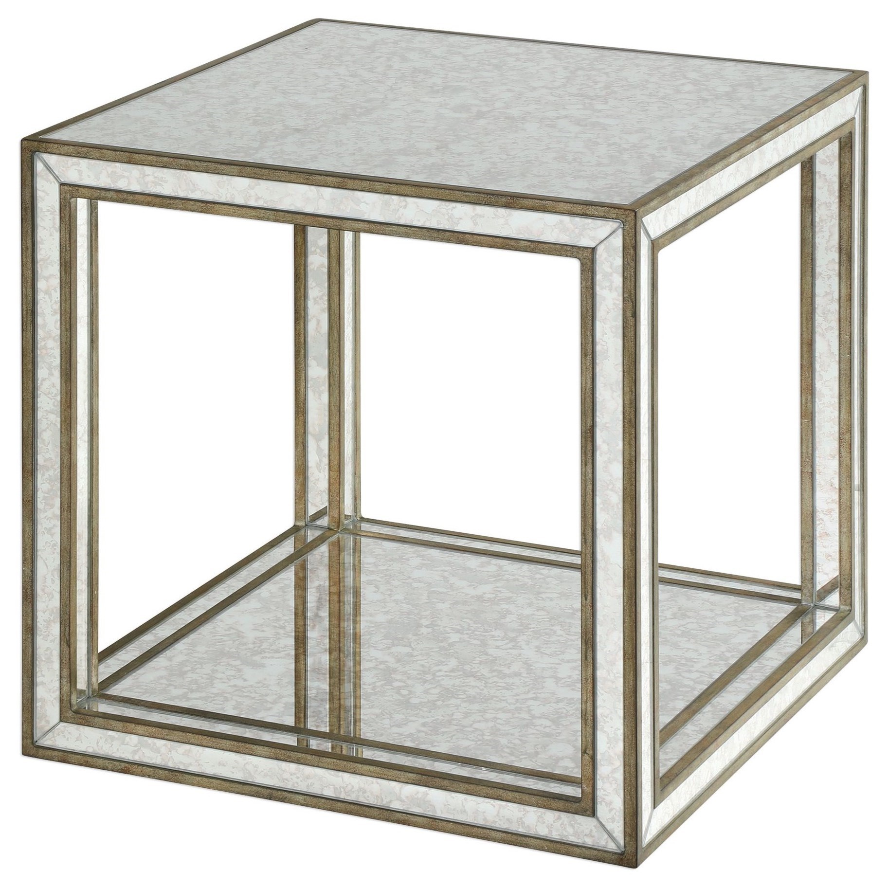 Accent Furniture - Occasional Tables Julie Mirrored Accent Table by Uttermost at Goffena Furniture & Mattress Center