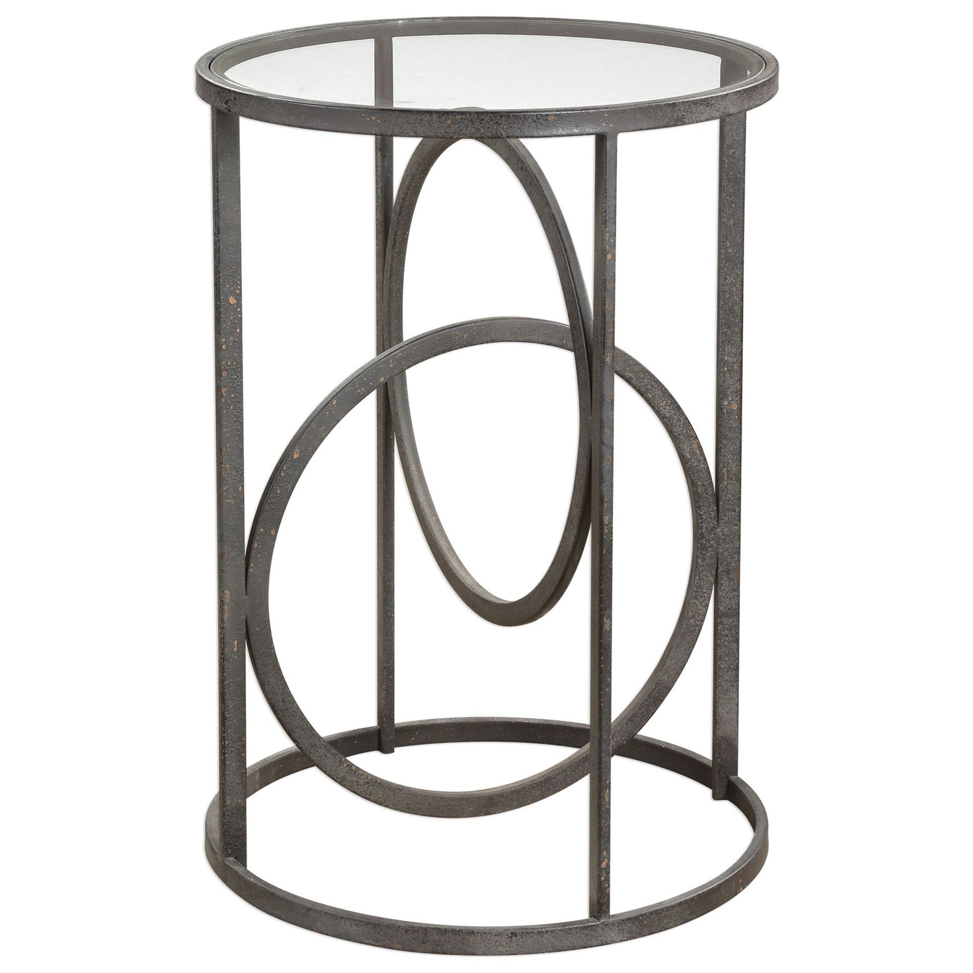 Accent Furniture - Occasional Tables Lucien Iron Accent Table by Uttermost at Mueller Furniture