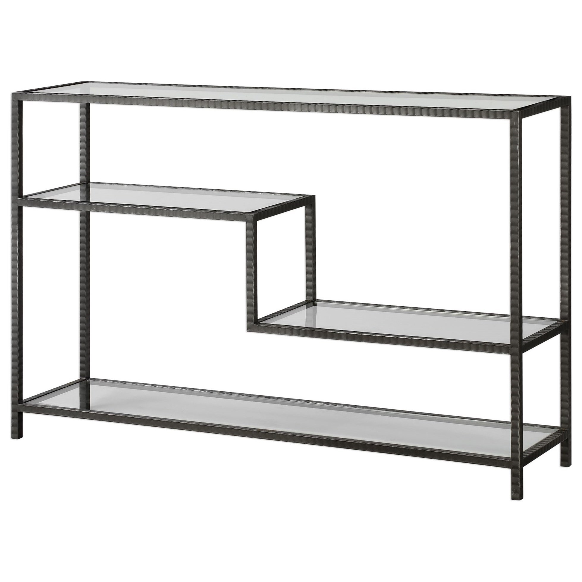 Accent Furniture - Occasional Tables Leo Industrial Console Table by Uttermost at Upper Room Home Furnishings
