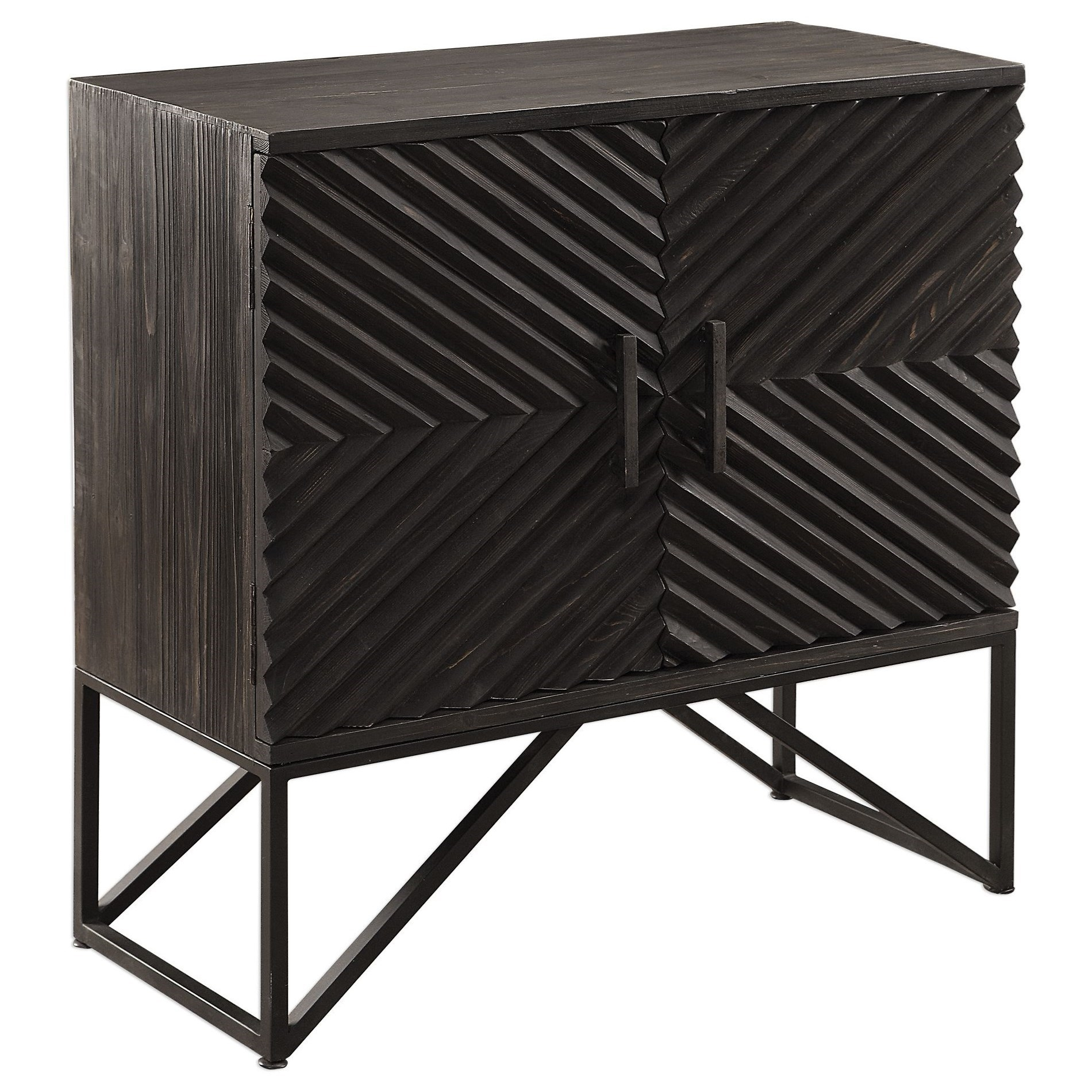 Accent Furniture - Chests Uttermost Zadie Ebony Accent Cabinet by Uttermost at O'Dunk & O'Bright Furniture