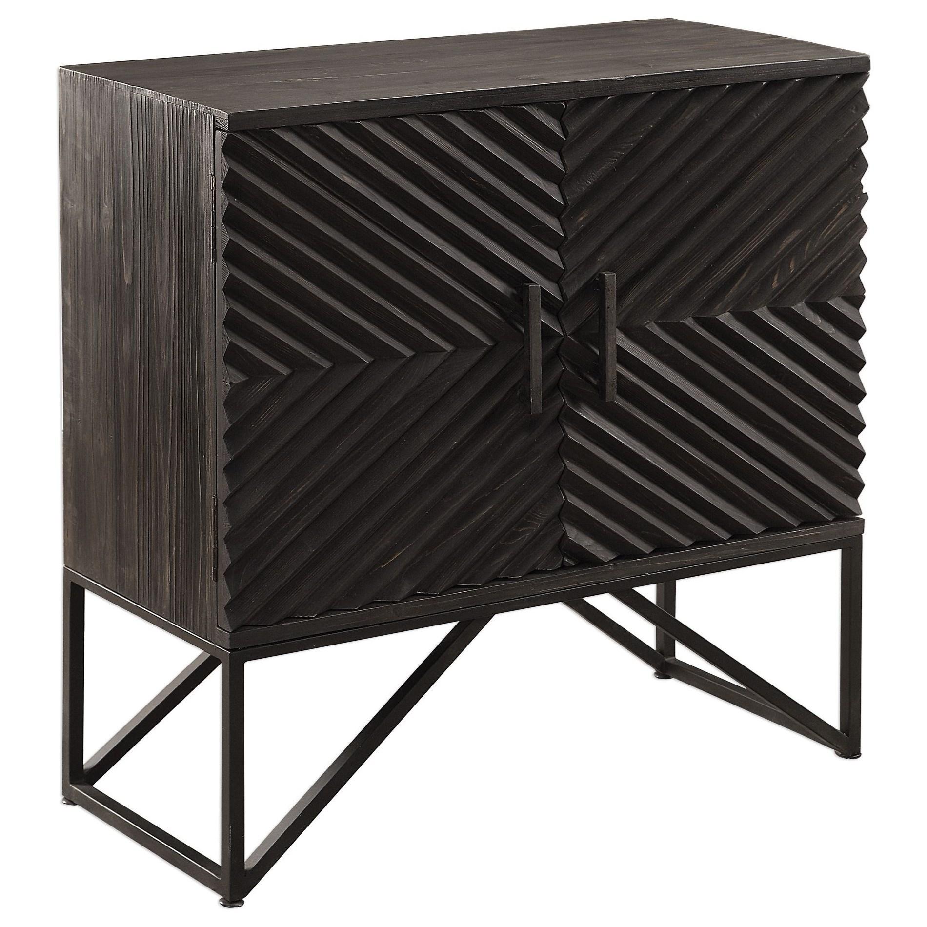 Accent Furniture - Chests Uttermost Zadie Ebony Accent Cabinet by Uttermost at Mueller Furniture