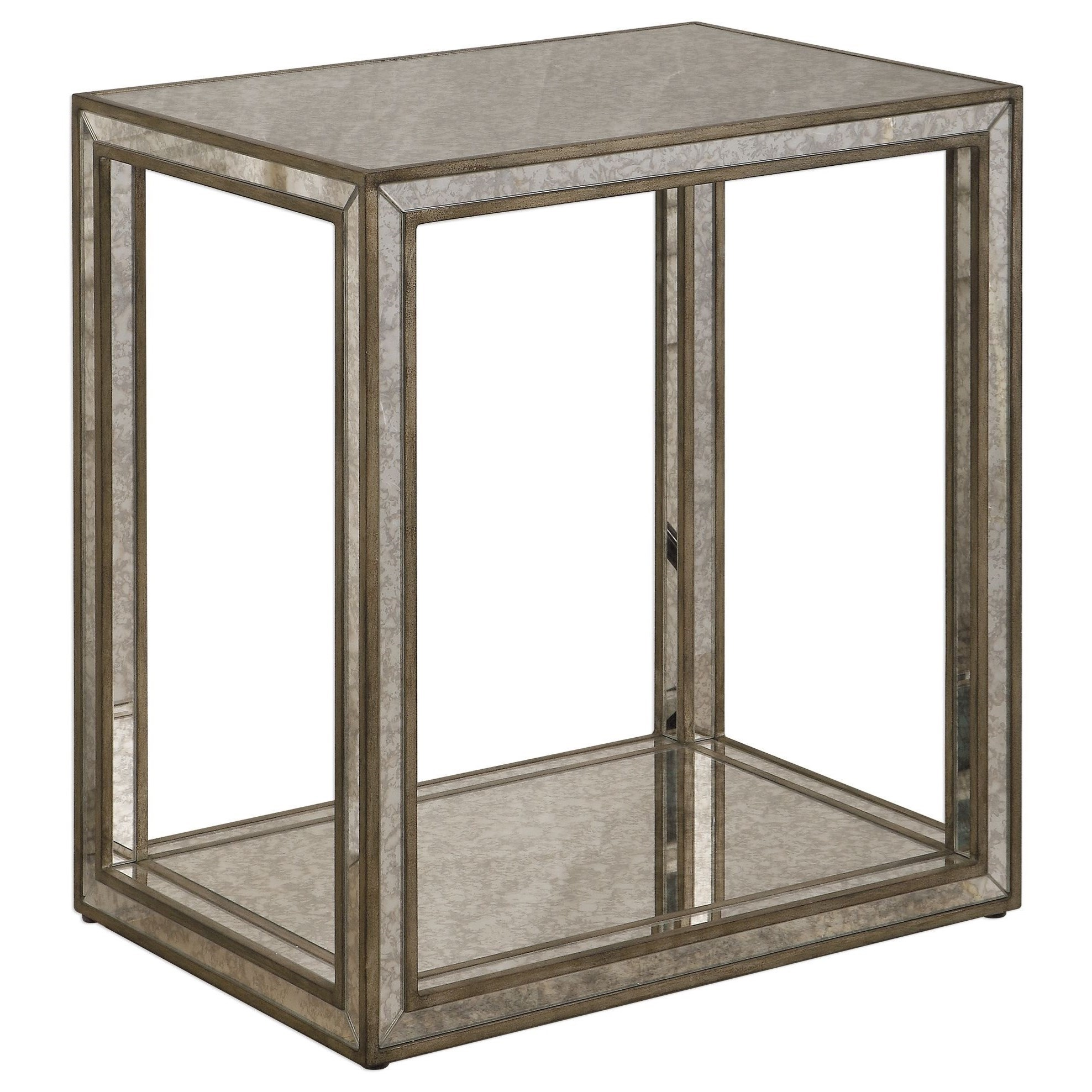 Accent Furniture - Occasional Tables Julie Mirrored End Table by Uttermost at Upper Room Home Furnishings
