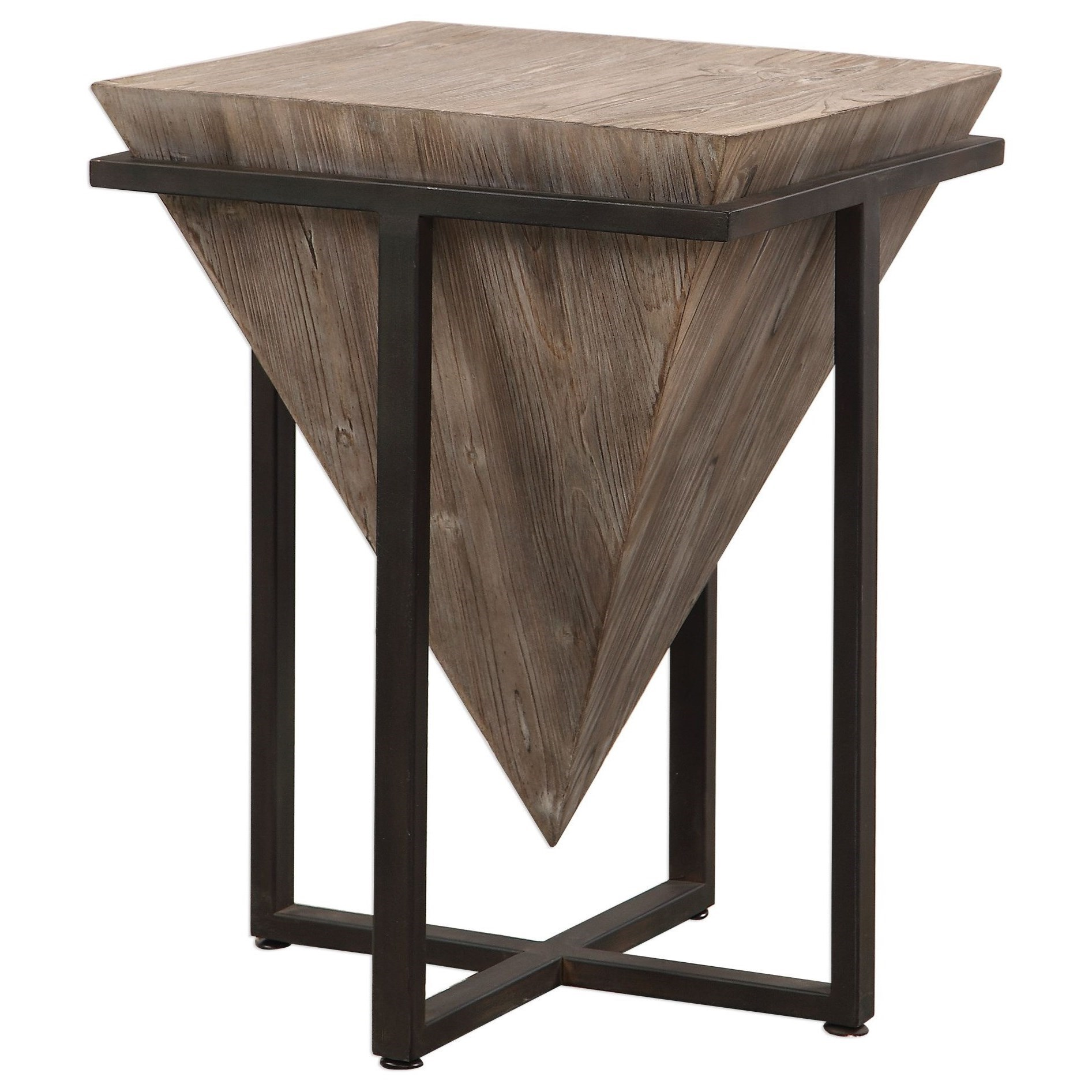 Accent Furniture - Occasional Tables Bertrand Wood Accent Table by Uttermost at Upper Room Home Furnishings