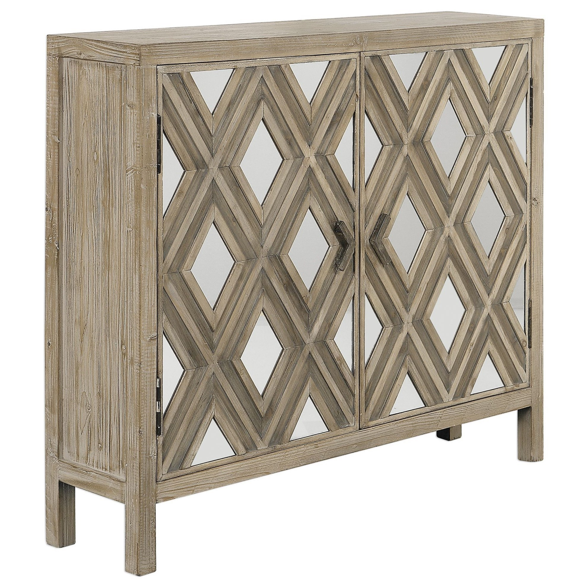 Accent Furniture - Chests Tahira Mirrored Accent Cabinet by Uttermost at Upper Room Home Furnishings