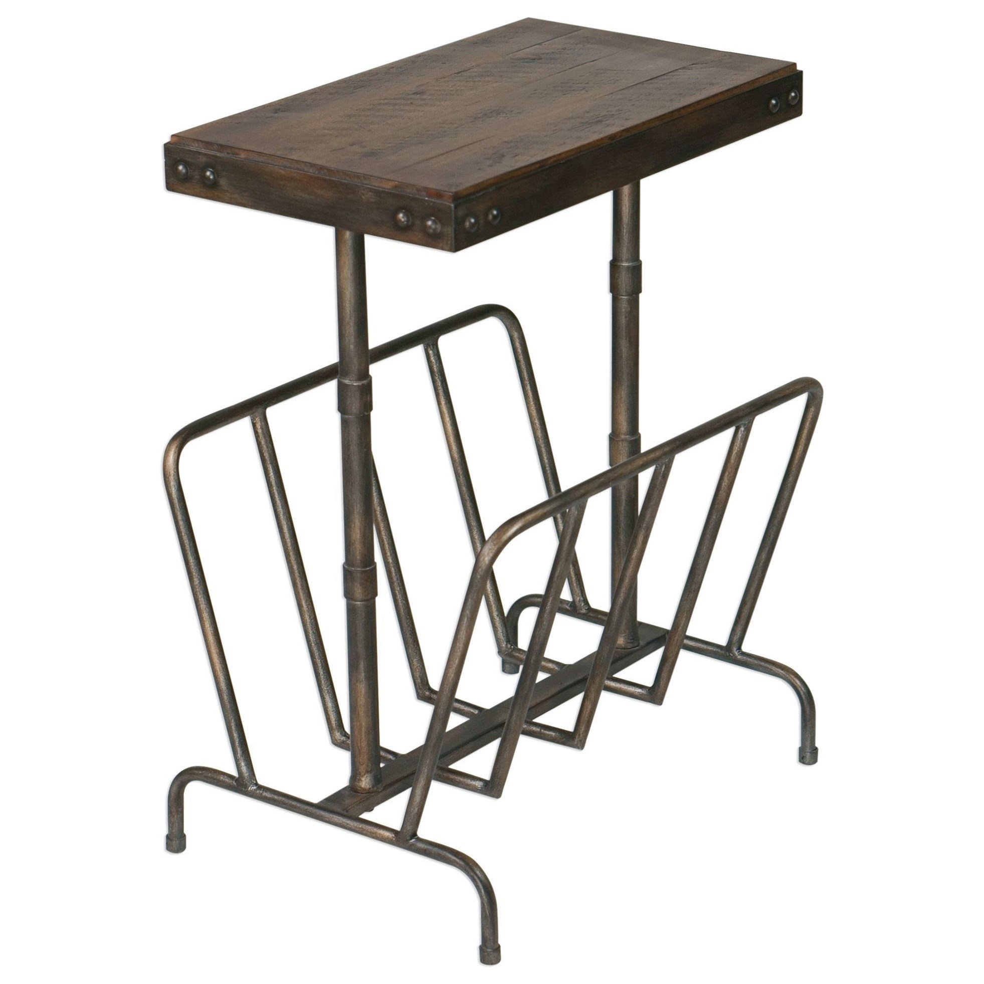 Accent Furniture - Occasional Tables Sonora Industrial Magazine Side Table by Uttermost at Reid's Furniture
