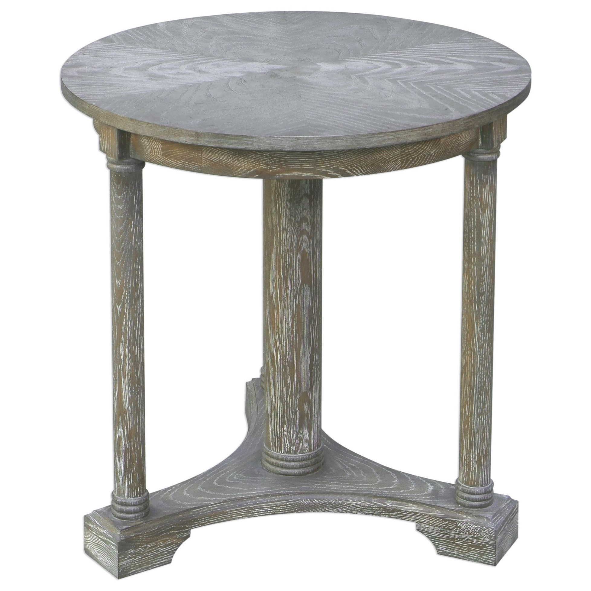 Accent Furniture - Occasional Tables Thema Weathered Gray Accent Table by Uttermost at Del Sol Furniture