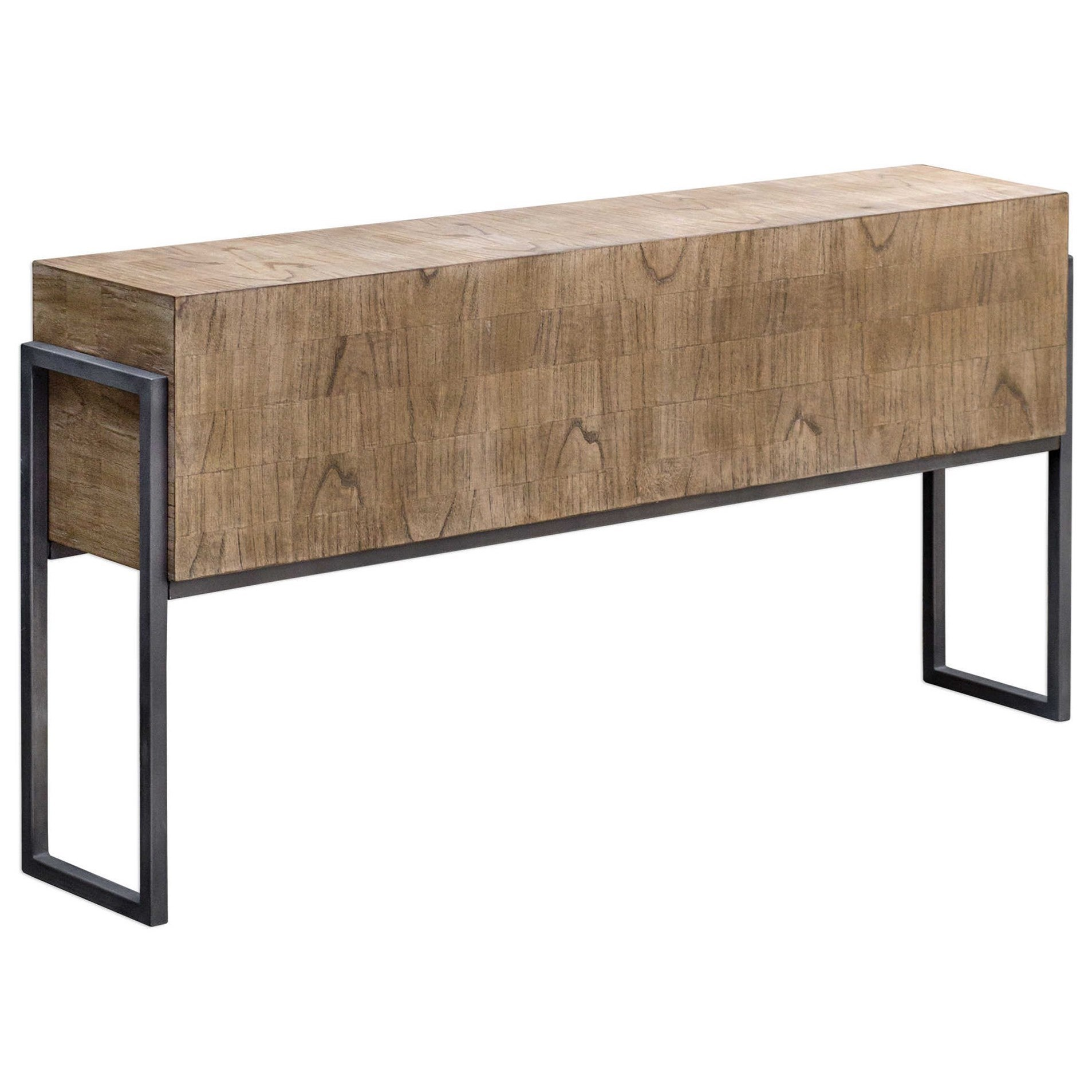 Accent Furniture - Occasional Tables Nevis Contemporary Sofa Table by Uttermost at Upper Room Home Furnishings