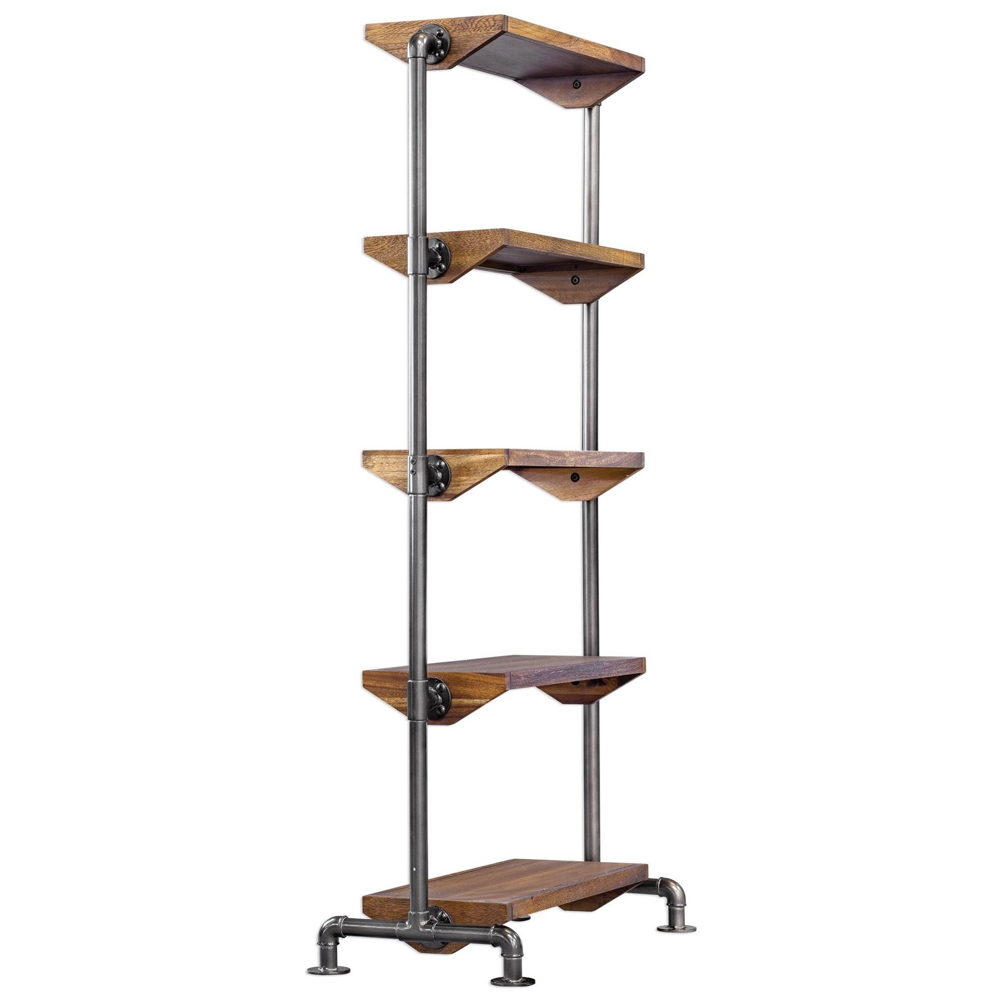 Accent Furniture - Bookcases Rhordyn Industrial Etagere by Uttermost at Mueller Furniture