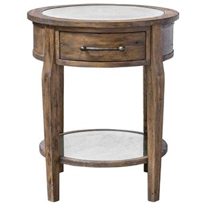 Raelynn Wood Lamp Table