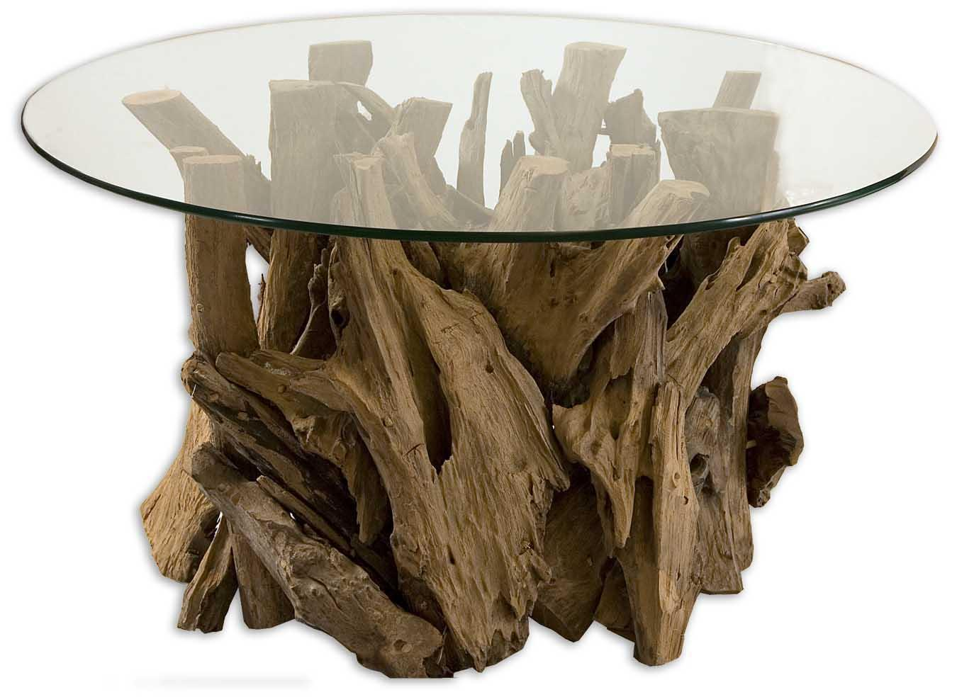 Accent Furniture - Occasional Tables Driftwood Cocktail Table by Uttermost at Goffena Furniture & Mattress Center