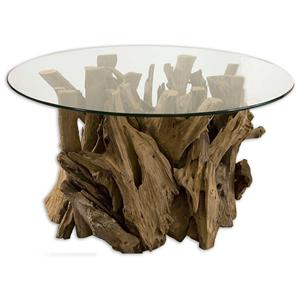 Driftwood Cocktail Table for Beach-House Cabin Furniture